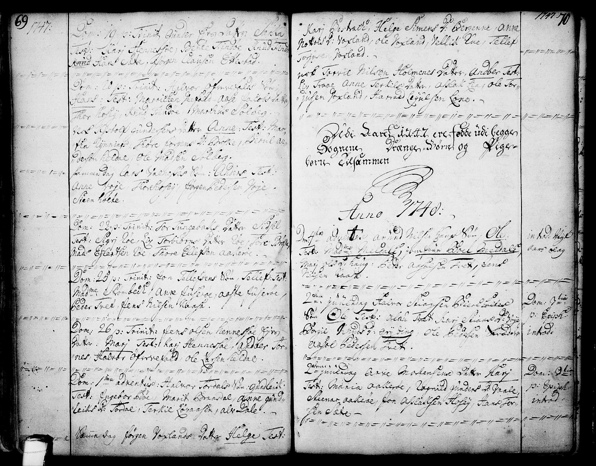 SAKO, Drangedal kirkebøker, F/Fa/L0002: Ministerialbok nr. 2, 1733-1753, s. 69-70