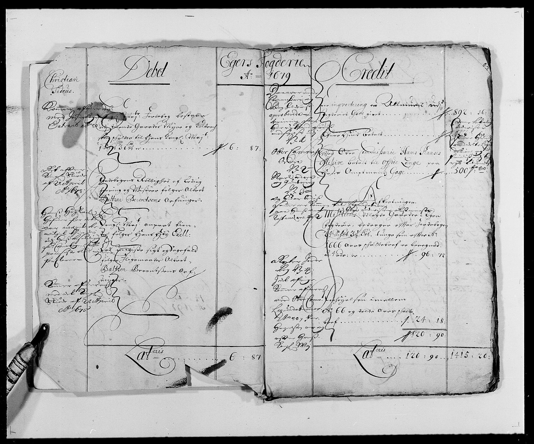 RA, Rentekammeret inntil 1814, Reviderte regnskaper, Fogderegnskap, R26/L1684: Fogderegnskap Eiker, 1679-1686, s. 2