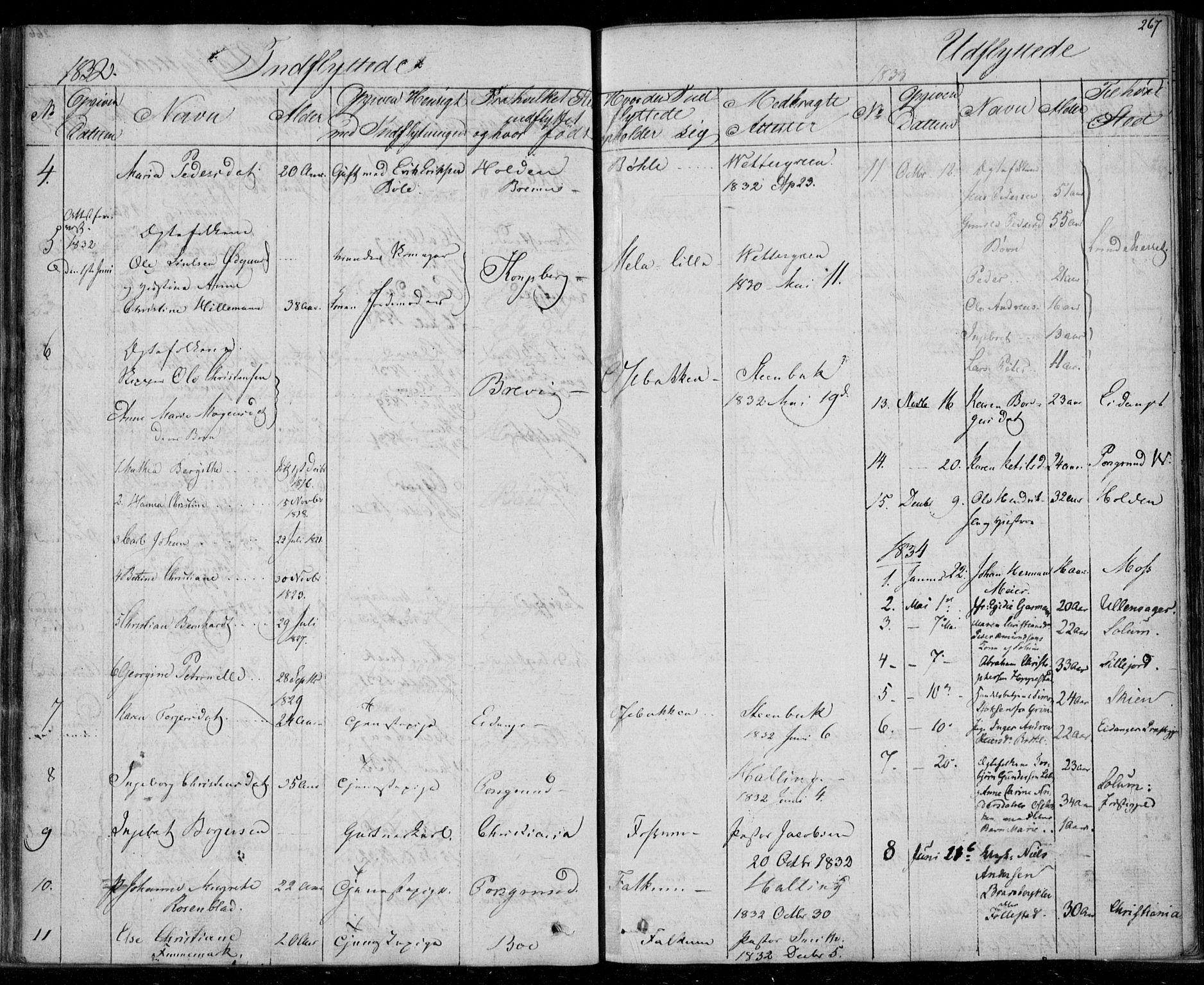 SAKO, Gjerpen kirkebøker, F/Fa/L0006: Ministerialbok nr. 6, 1829-1834, s. 267