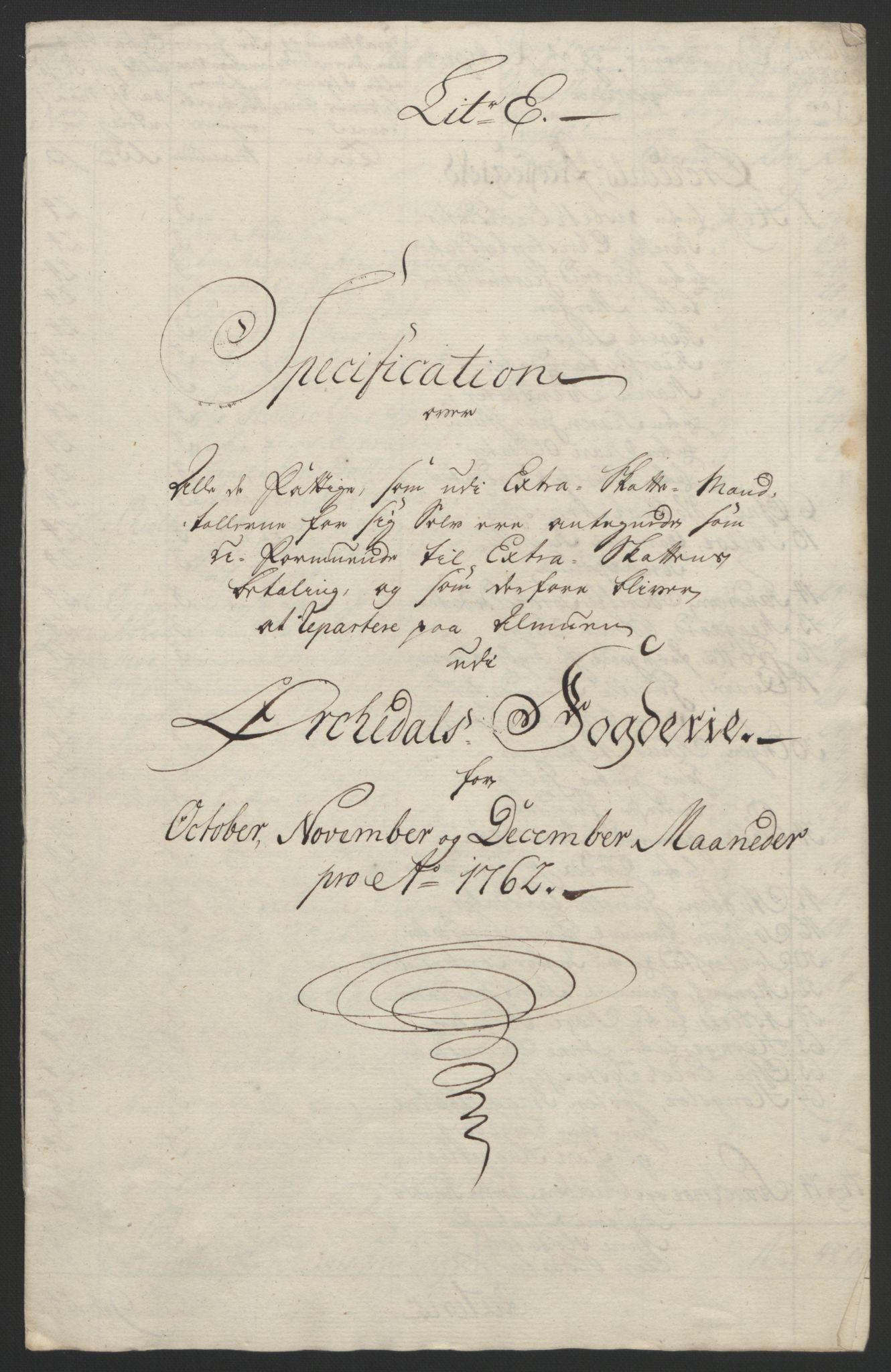 RA, Rentekammeret inntil 1814, Reviderte regnskaper, Fogderegnskap, R60/L4094: Ekstraskatten Orkdal og Gauldal, 1762-1765, s. 65