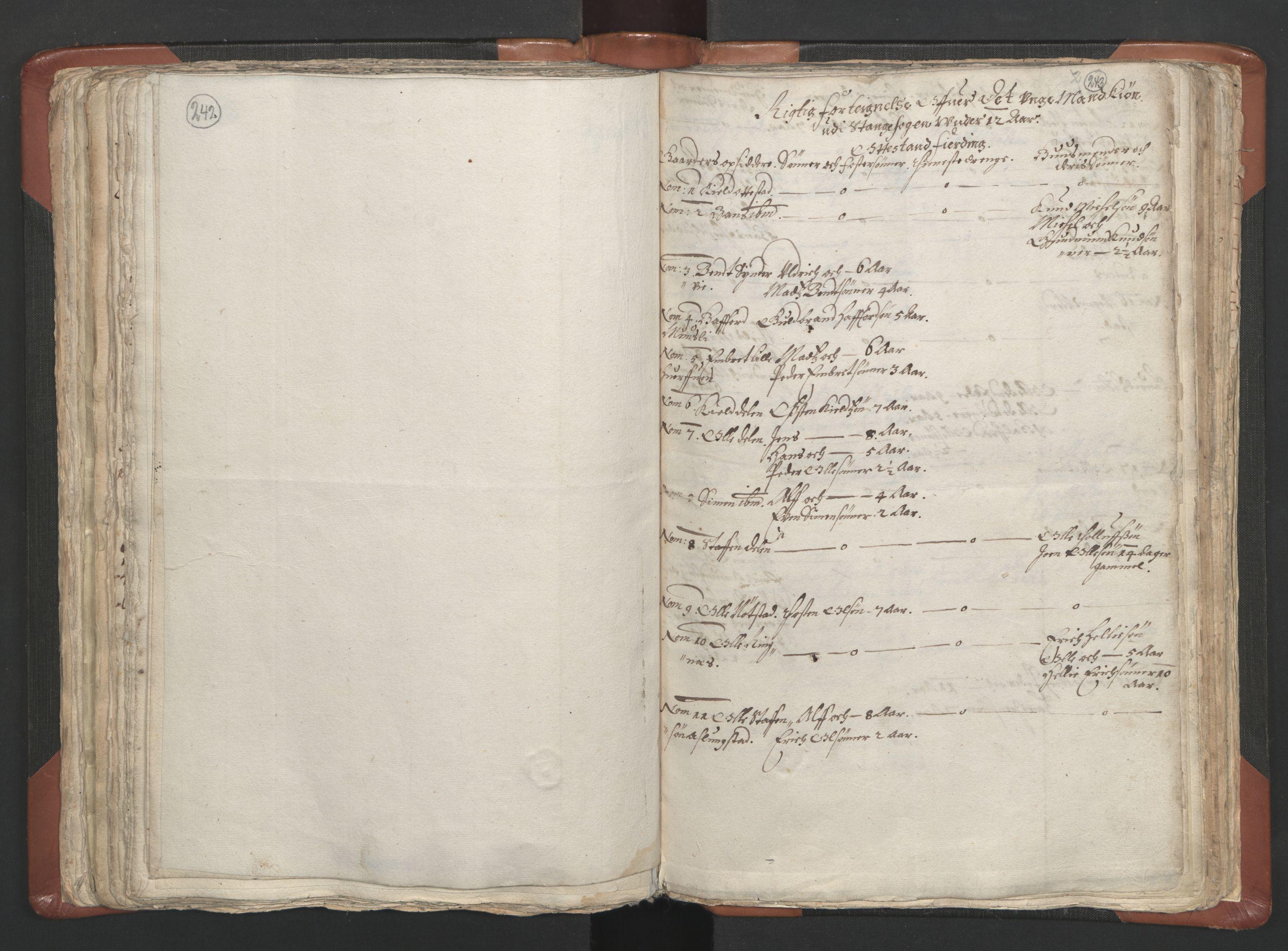 RA, Sogneprestenes manntall 1664-1666, nr. 5: Hedmark prosti, 1664-1666, s. 242-243