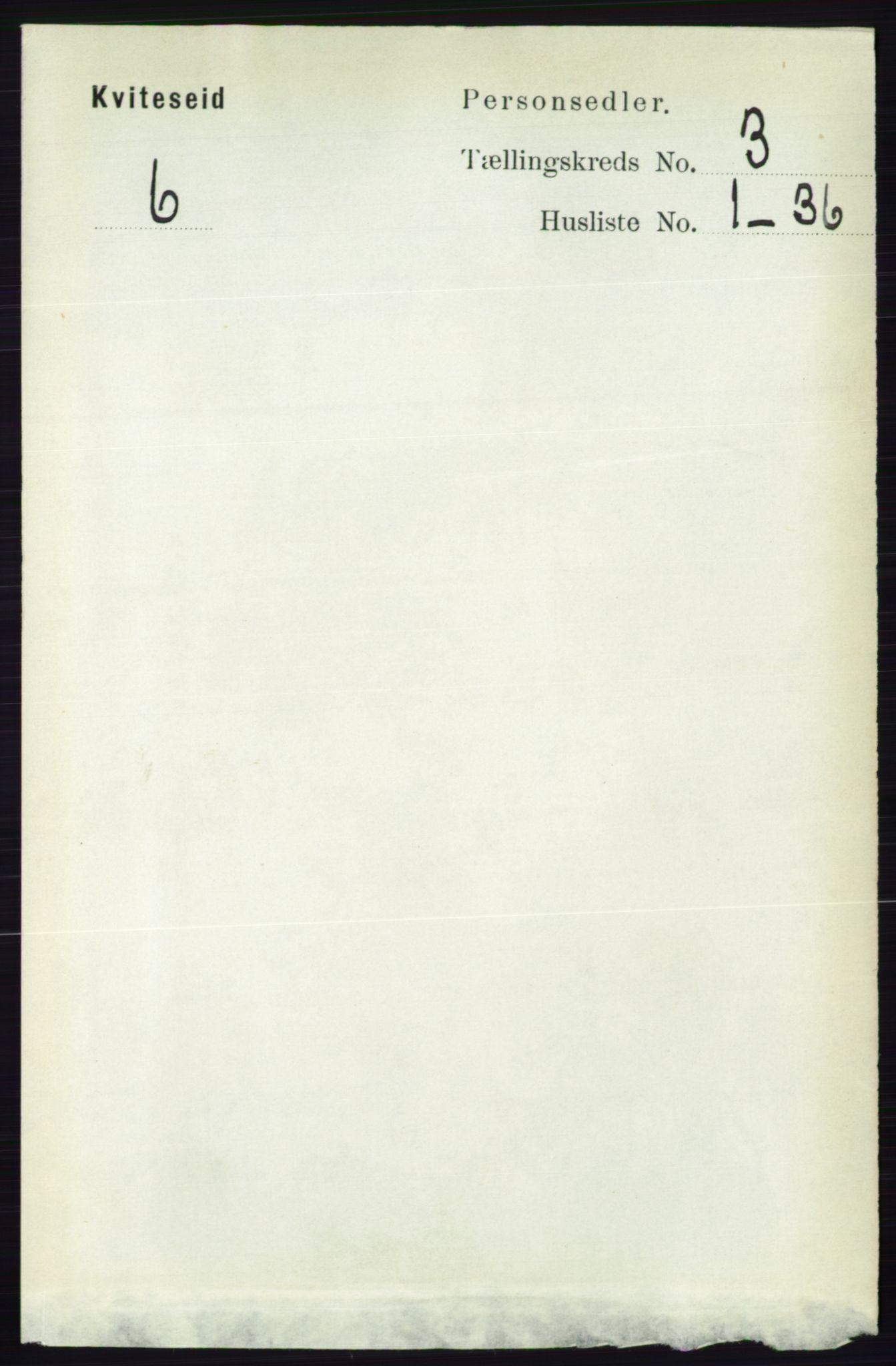 RA, Folketelling 1891 for 0829 Kviteseid herred, 1891, s. 501