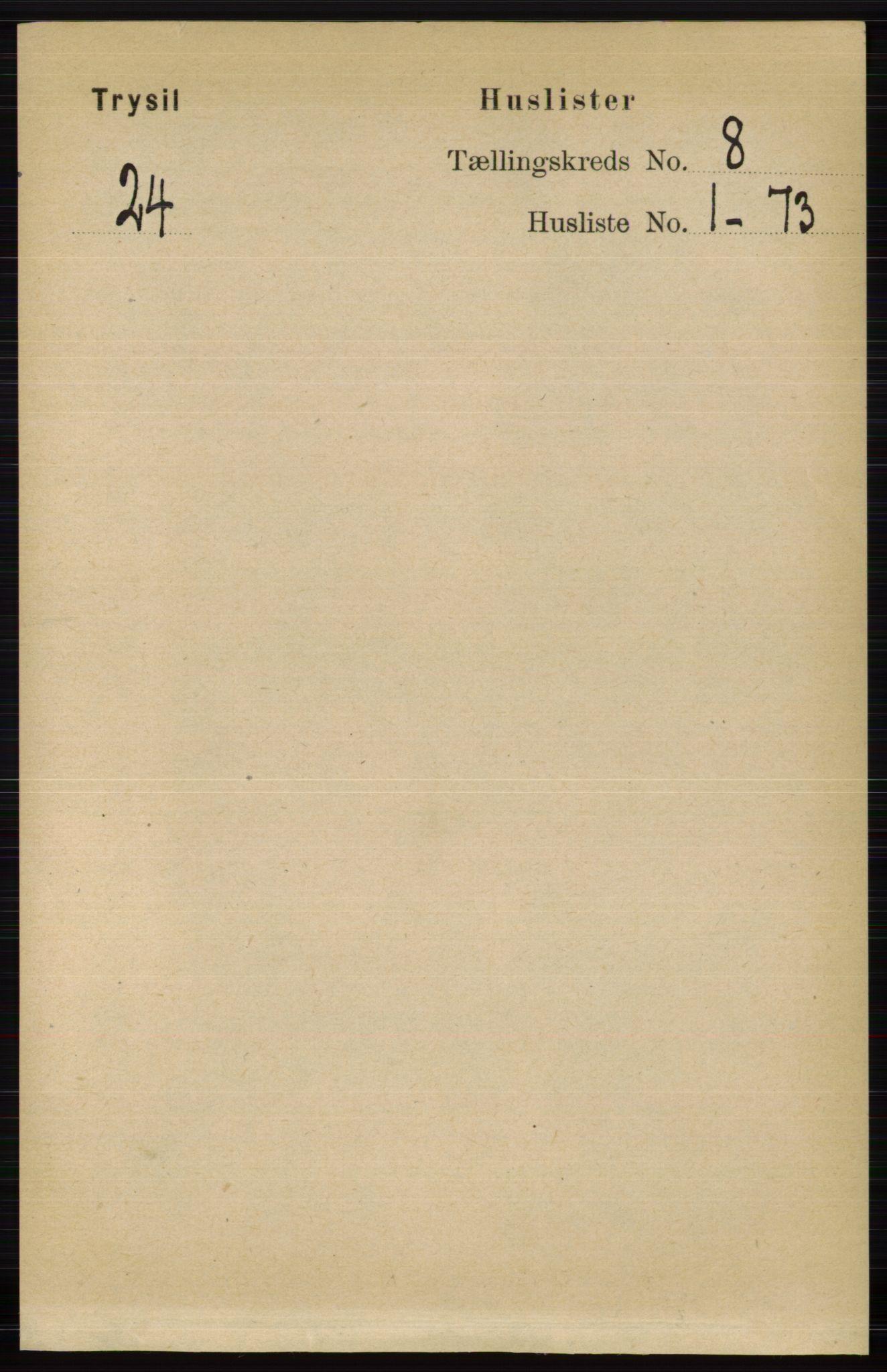 RA, Folketelling 1891 for 0428 Trysil herred, 1891, s. 3564