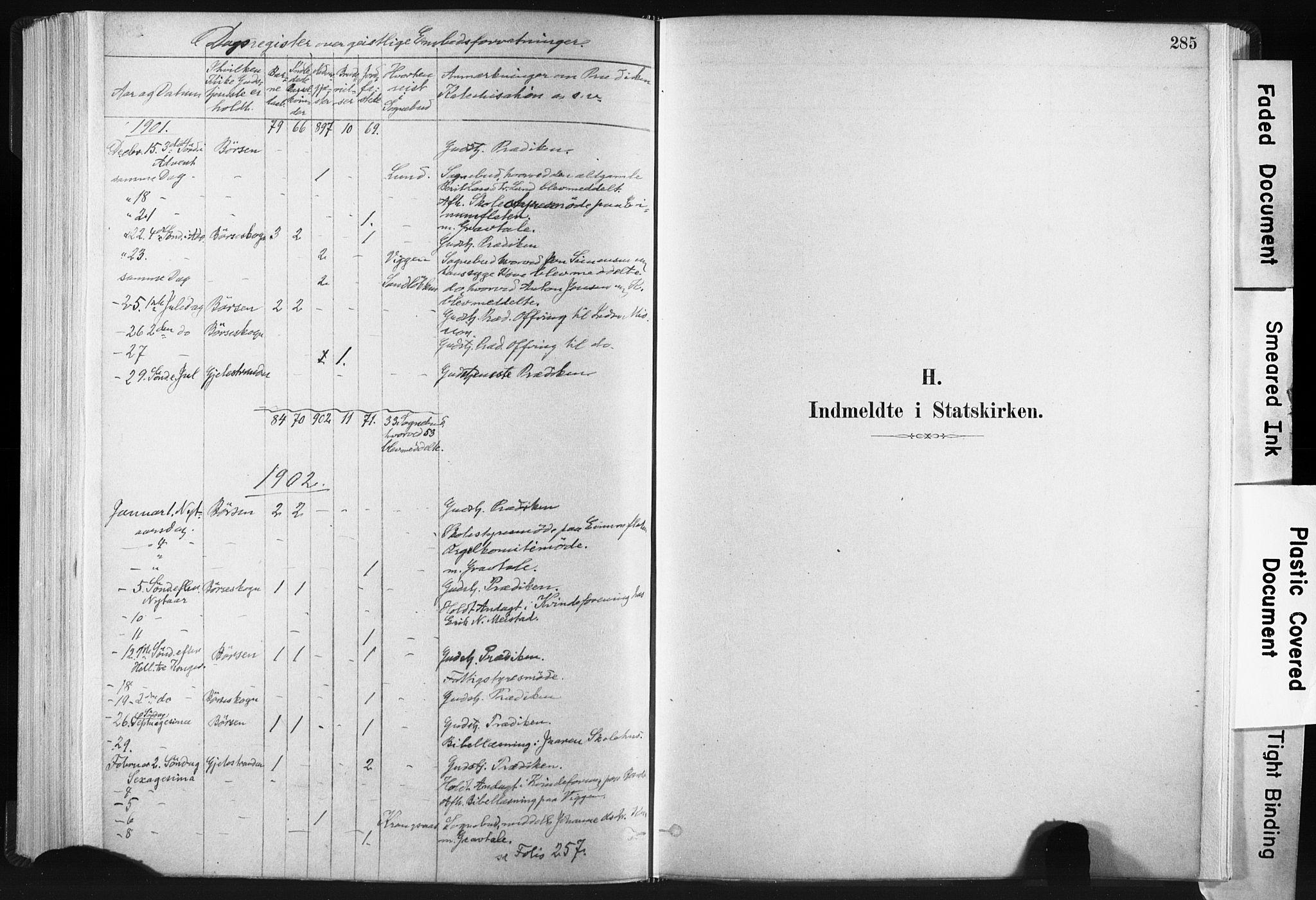 SAT, Ministerialprotokoller, klokkerbøker og fødselsregistre - Sør-Trøndelag, 665/L0773: Ministerialbok nr. 665A08, 1879-1905, s. 285