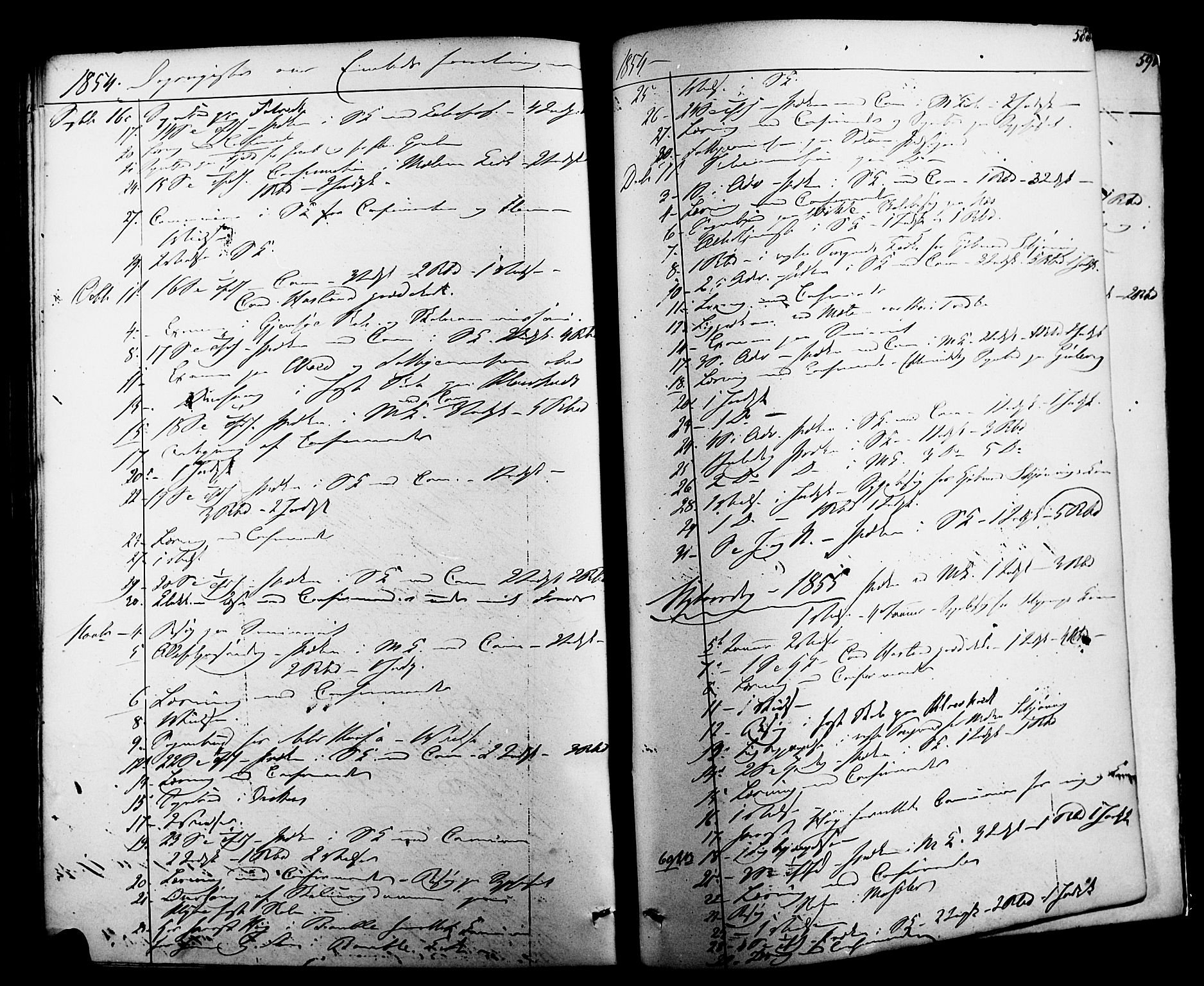 SAKO, Solum kirkebøker, F/Fa/L0006: Ministerialbok nr. I 6, 1844-1855, s. 588