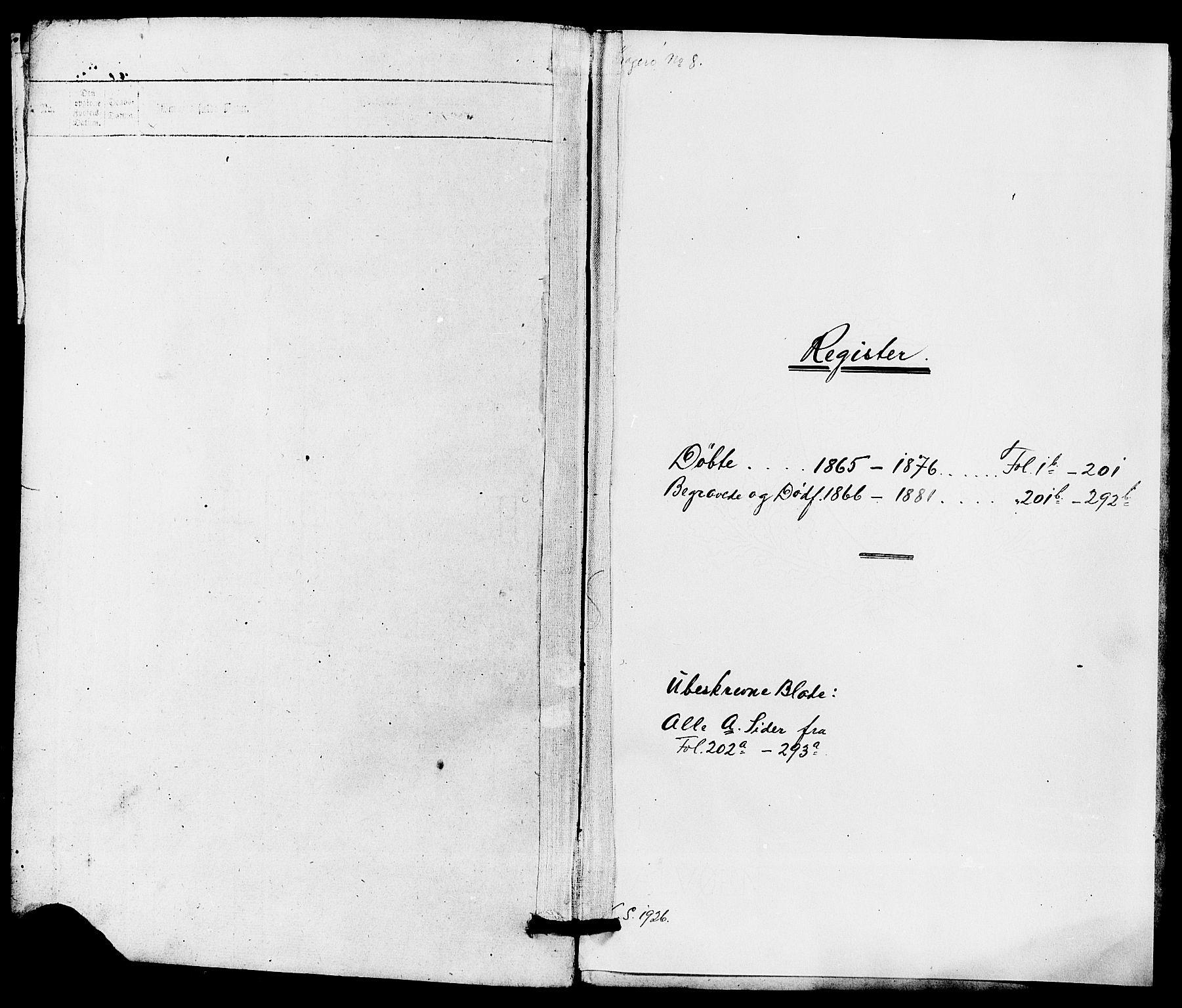 SAKO, Kragerø kirkebøker, G/Ga/L0005: Klokkerbok nr. 5, 1865-1881