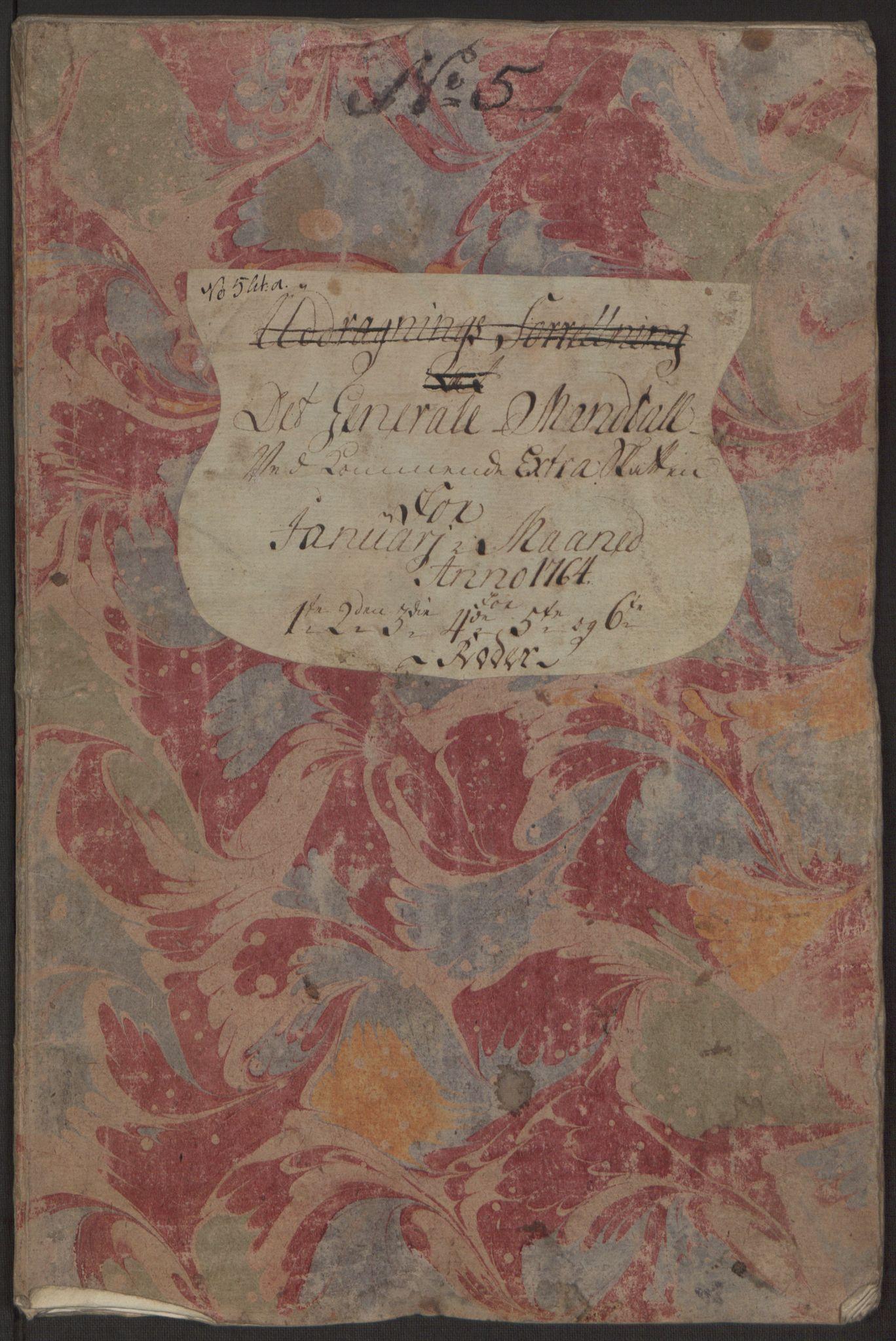 RA, Rentekammeret inntil 1814, Reviderte regnskaper, Byregnskaper, R/Rp/L0367: [P21] Kontribusjonsregnskap, 1764, s. 54