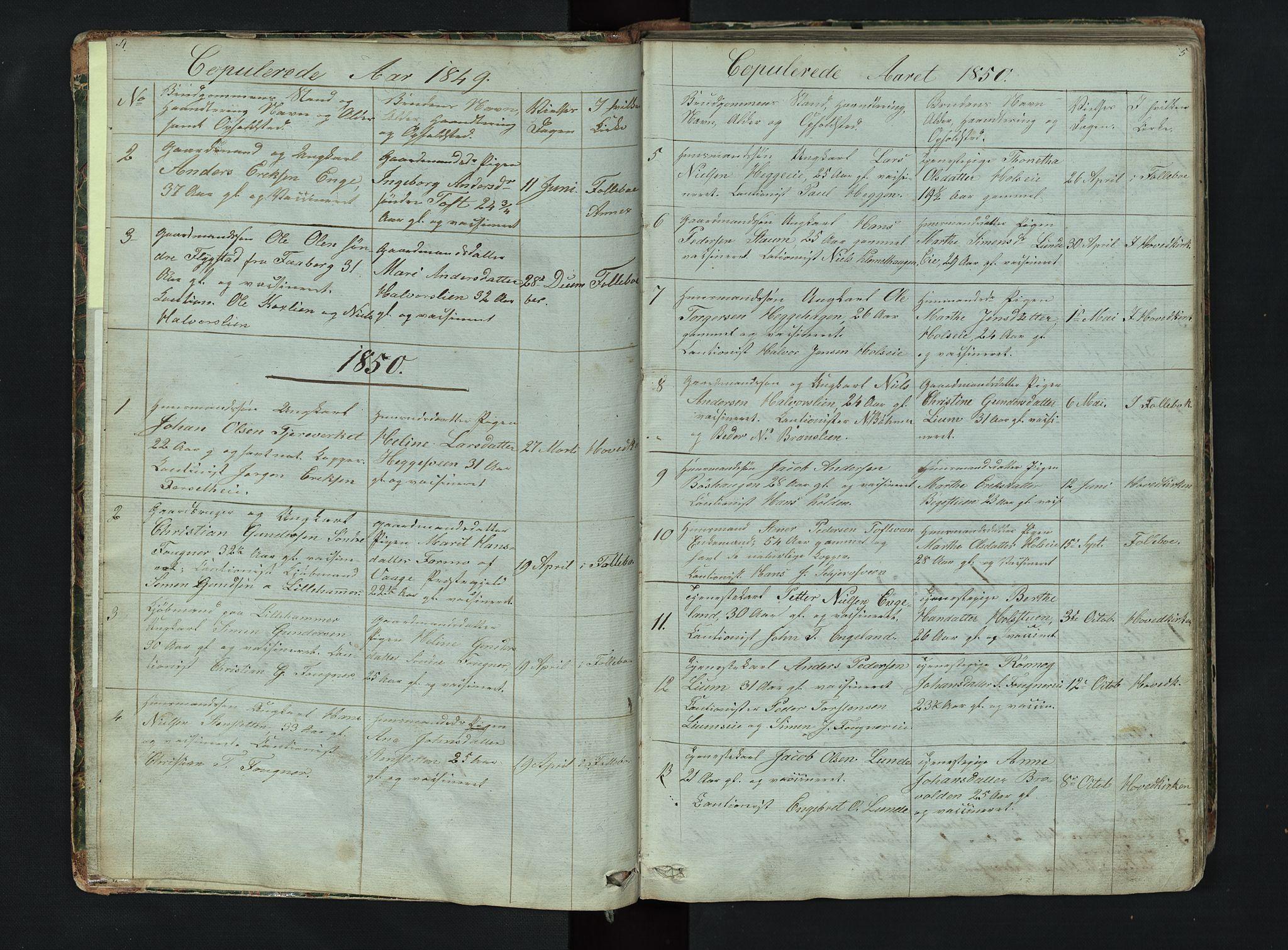 SAH, Gausdal prestekontor, Klokkerbok nr. 6, 1846-1893, s. 4-5