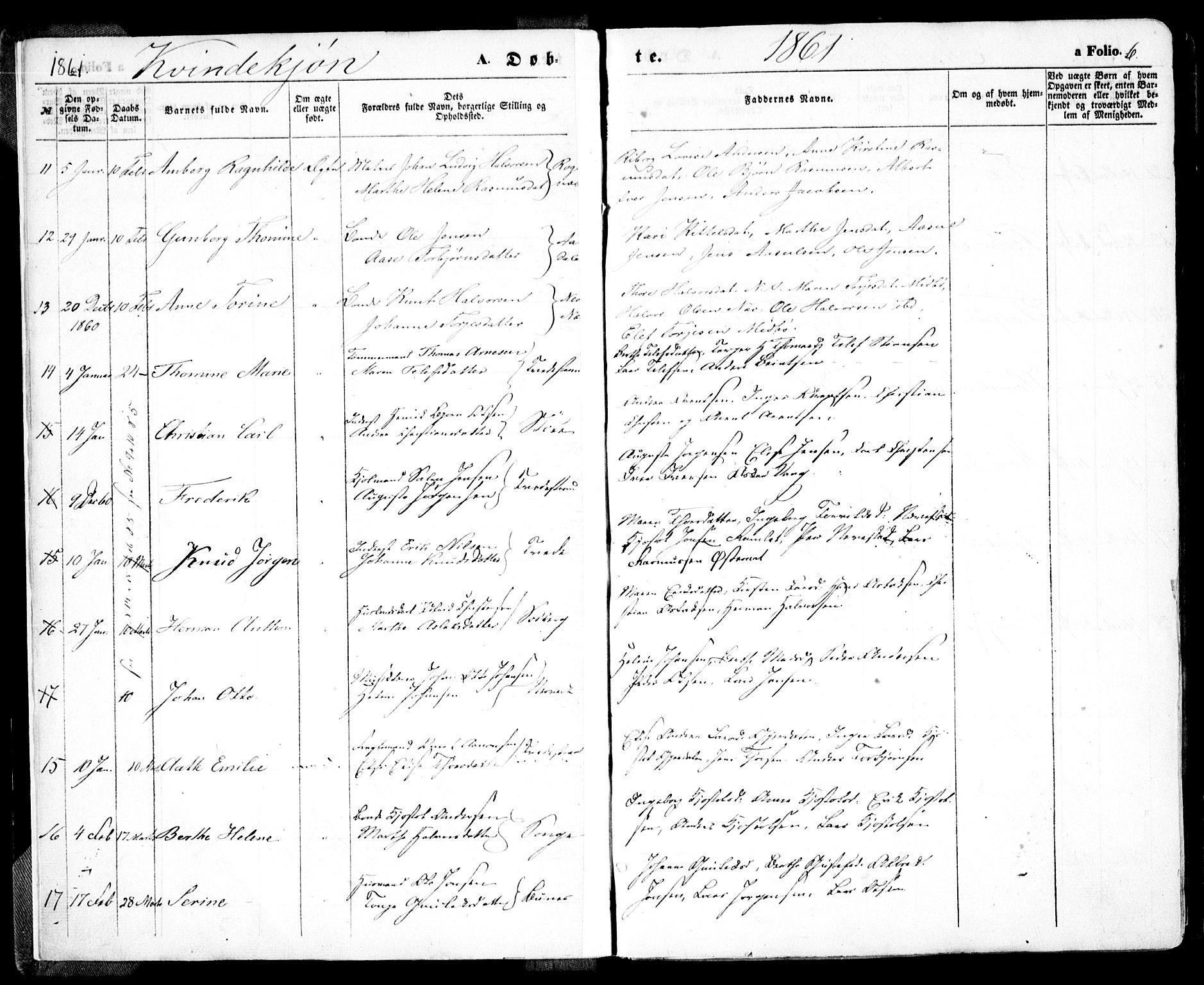SAK, Holt sokneprestkontor, F/Fa/L0009: Ministerialbok nr. A 9, 1861-1871, s. 6