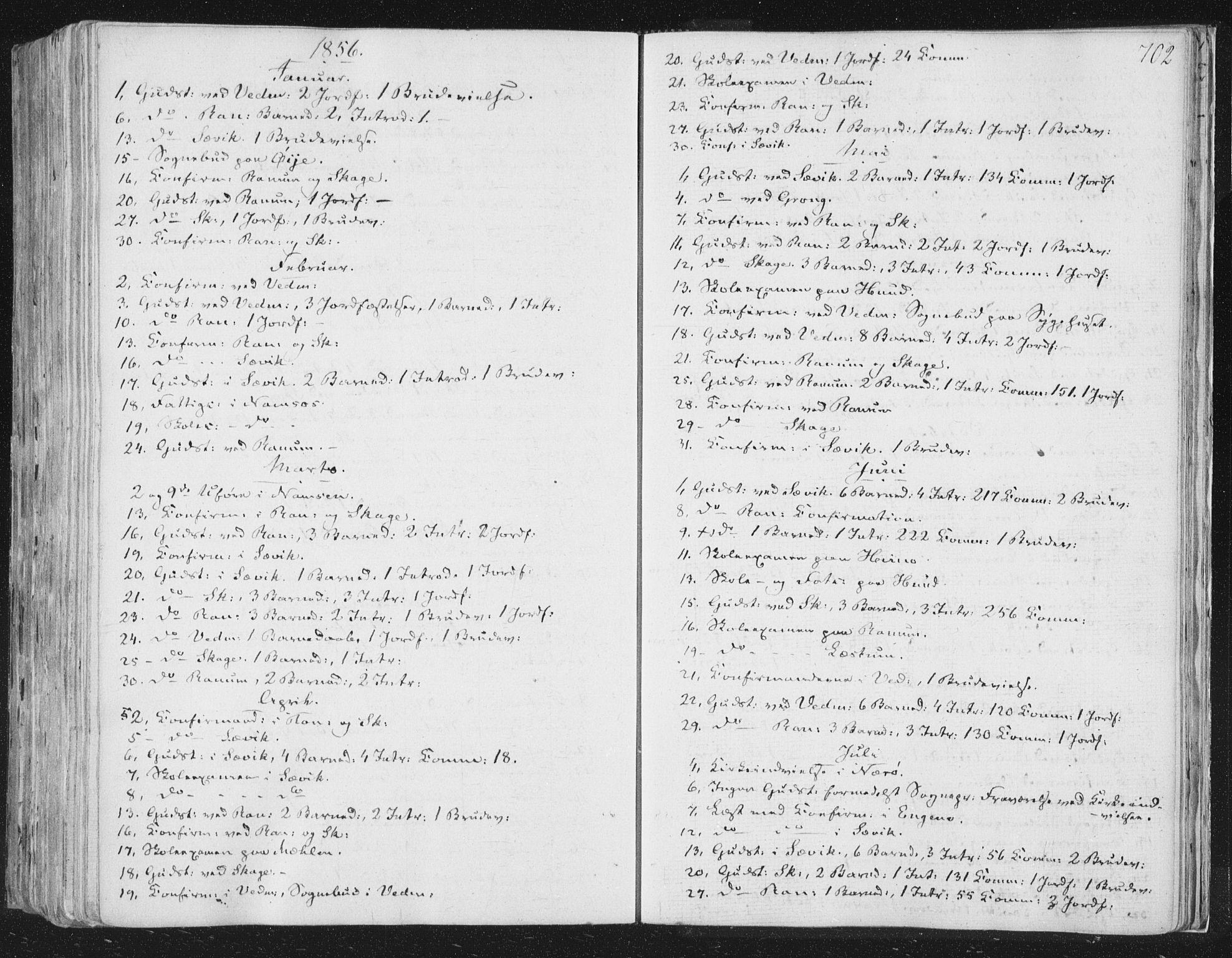 SAT, Ministerialprotokoller, klokkerbøker og fødselsregistre - Nord-Trøndelag, 764/L0552: Ministerialbok nr. 764A07b, 1824-1865, s. 702
