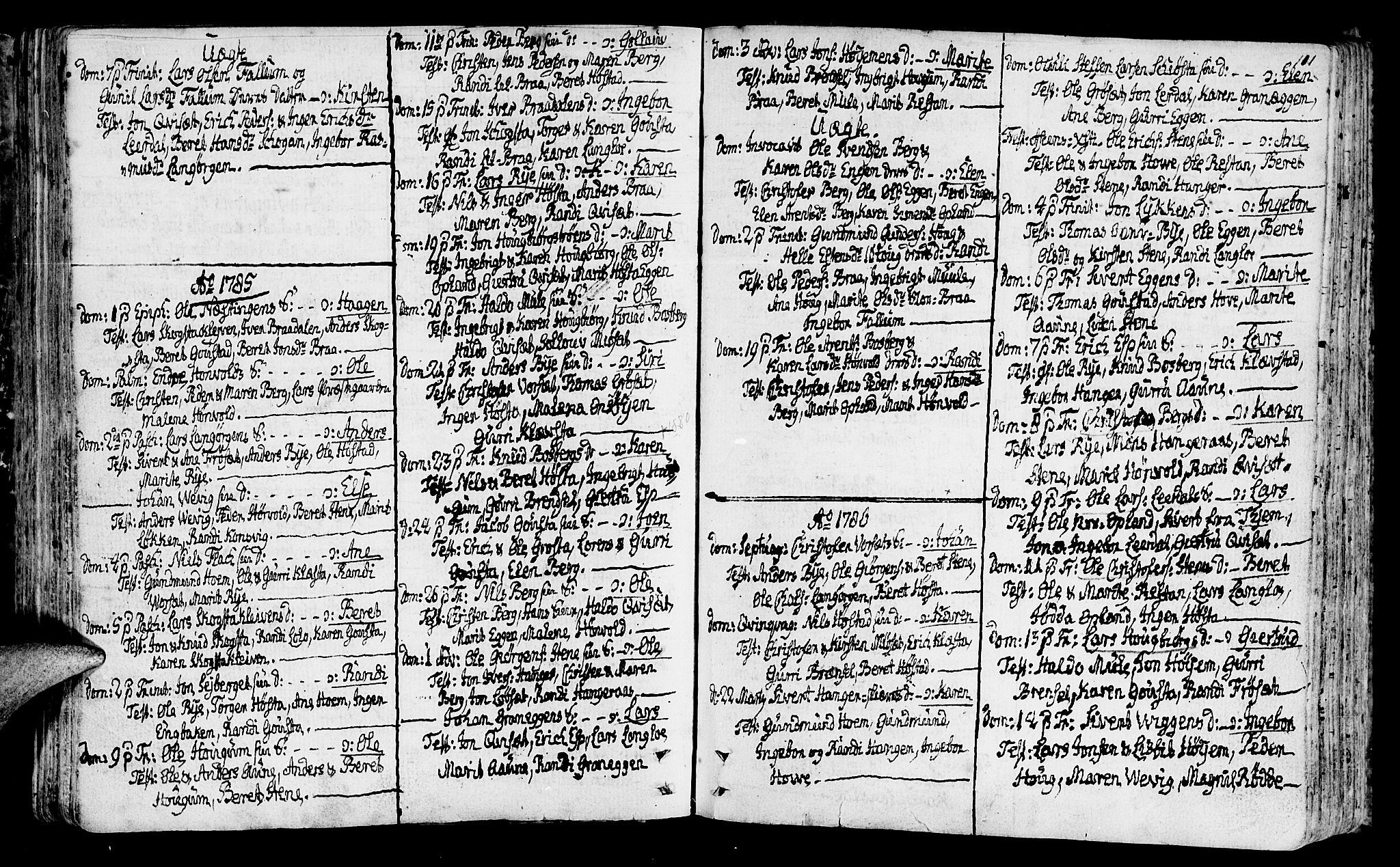 SAT, Ministerialprotokoller, klokkerbøker og fødselsregistre - Sør-Trøndelag, 612/L0370: Ministerialbok nr. 612A04, 1754-1802, s. 111