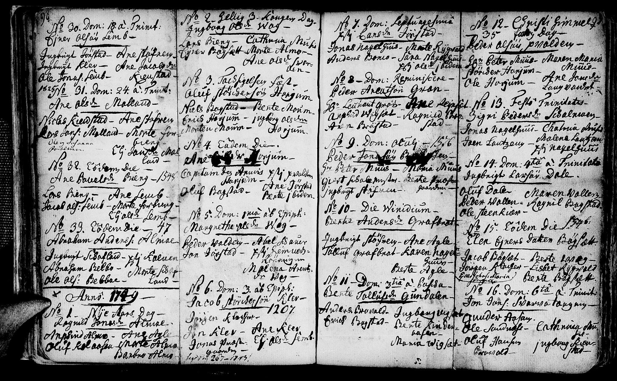 SAT, Ministerialprotokoller, klokkerbøker og fødselsregistre - Nord-Trøndelag, 749/L0467: Ministerialbok nr. 749A01, 1733-1787, s. 96-97
