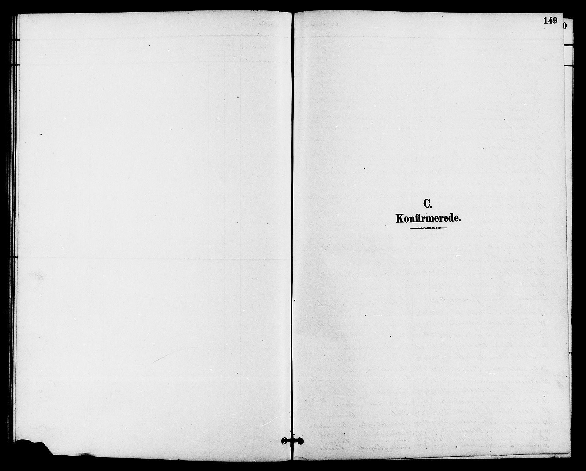 SAKO, Drangedal kirkebøker, G/Ga/L0003: Klokkerbok nr. I 3, 1887-1906, s. 149