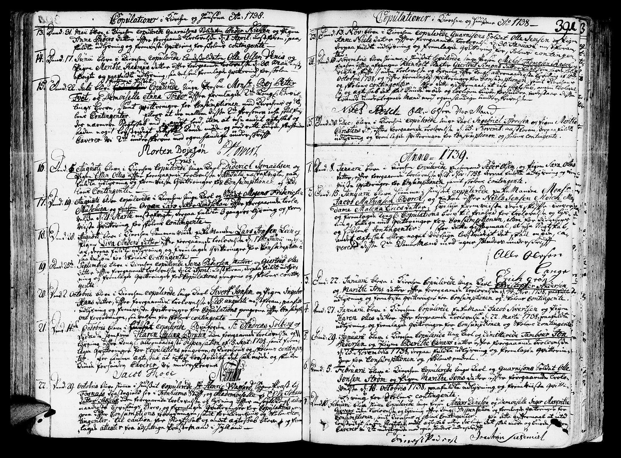 SAT, Ministerialprotokoller, klokkerbøker og fødselsregistre - Sør-Trøndelag, 602/L0103: Ministerialbok nr. 602A01, 1732-1774, s. 391