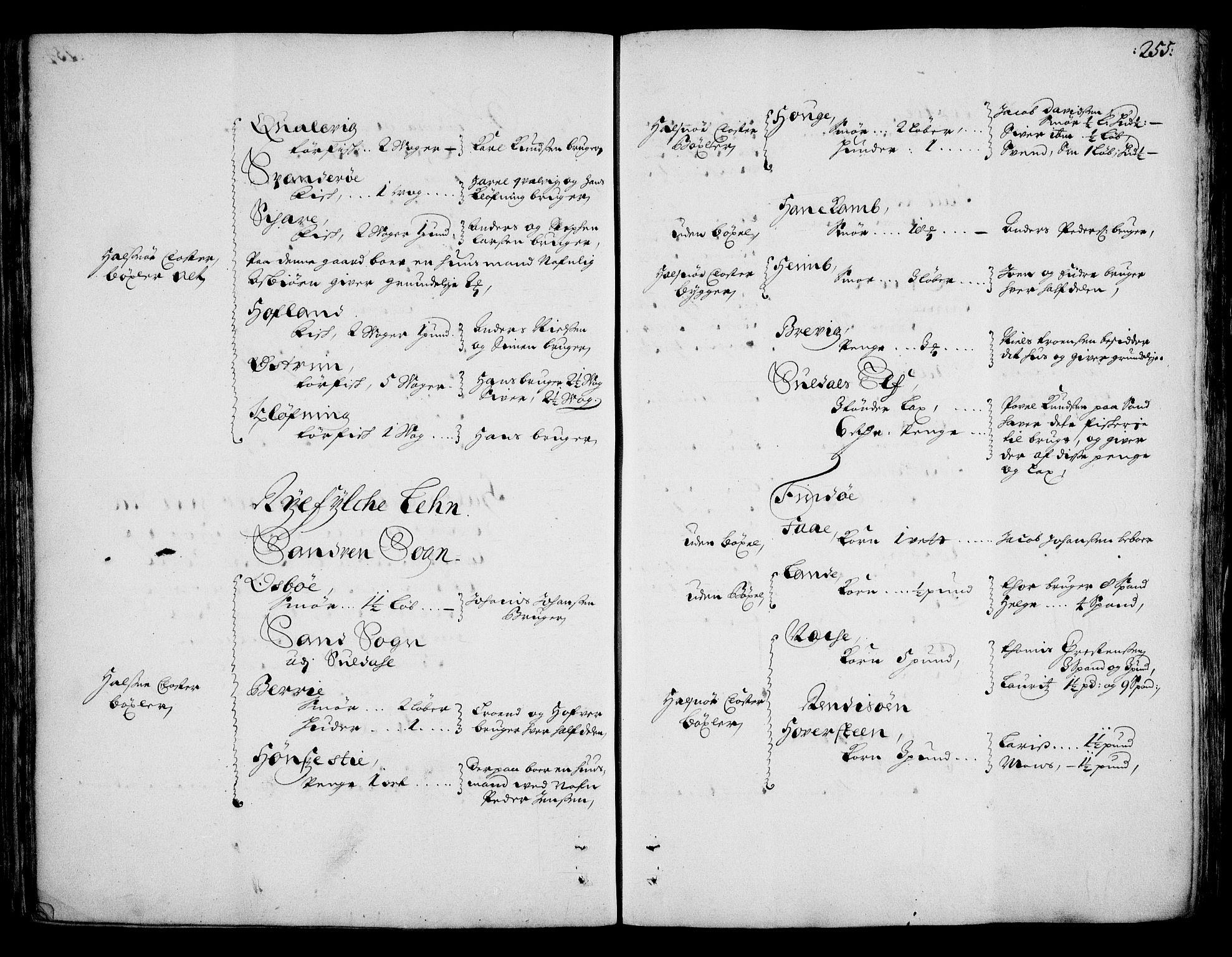 RA, Rentekammeret inntil 1814, Realistisk ordnet avdeling, On/L0002: [Jj 3]: Besiktigelsesforretninger over Halsnøy klosters gods, 1659-1703, s. 254b-255a