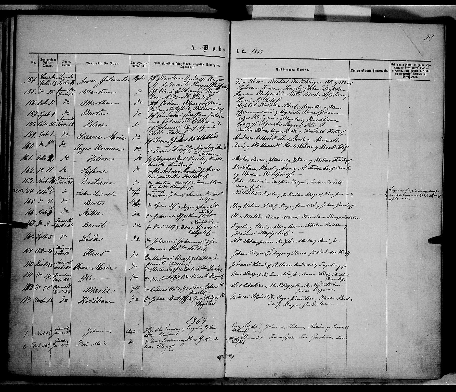 SAH, Nordre Land prestekontor, Ministerialbok nr. 1, 1860-1871, s. 29