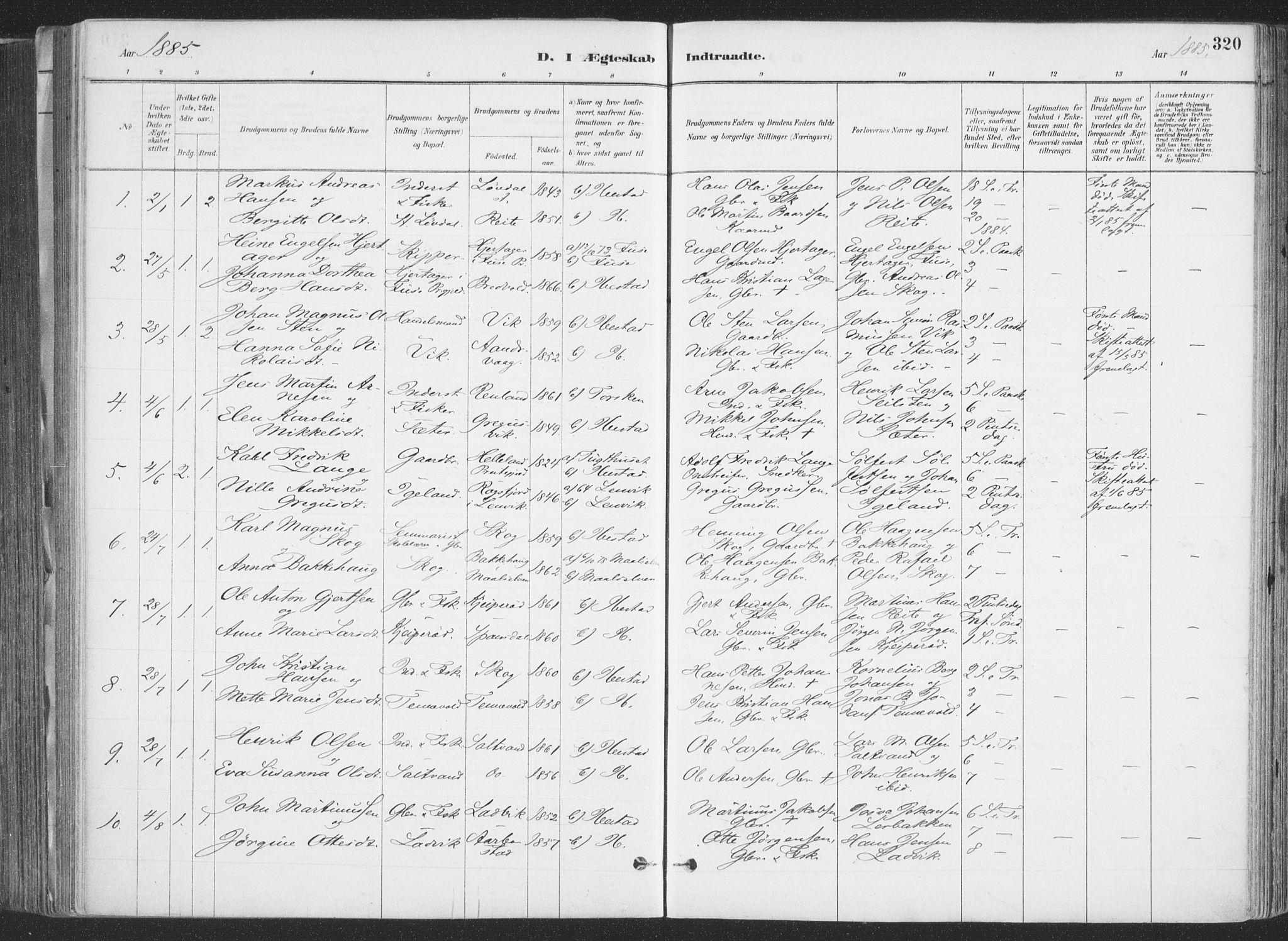 SATØ, Ibestad sokneprestembete, H/Ha/Haa/L0011kirke: Ministerialbok nr. 11, 1880-1889, s. 320