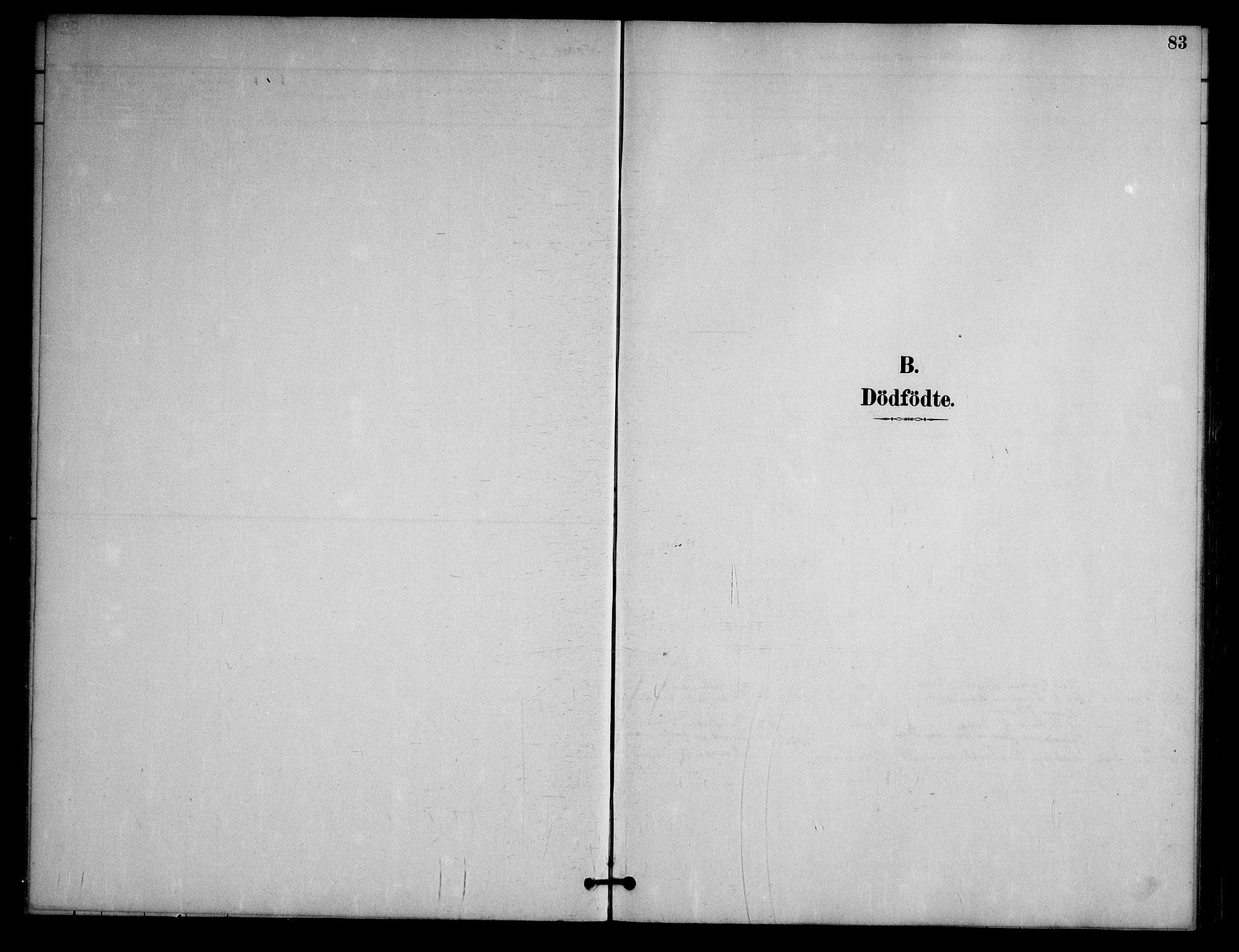 SAKO, Nissedal kirkebøker, G/Ga/L0003: Klokkerbok nr. I 3, 1887-1911, s. 83