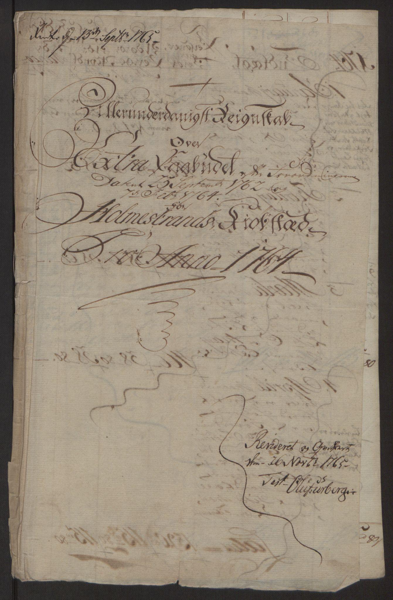RA, Rentekammeret inntil 1814, Reviderte regnskaper, Byregnskaper, R/Rh/L0163: [H4] Kontribusjonsregnskap, 1762-1772, s. 111