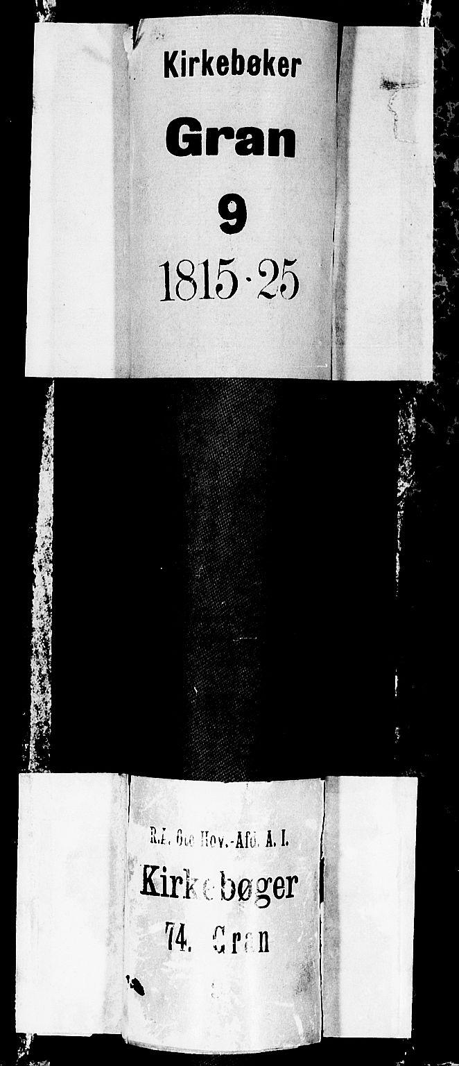 SAH, Gran prestekontor, Klokkerbok nr. 1, 1815-1824