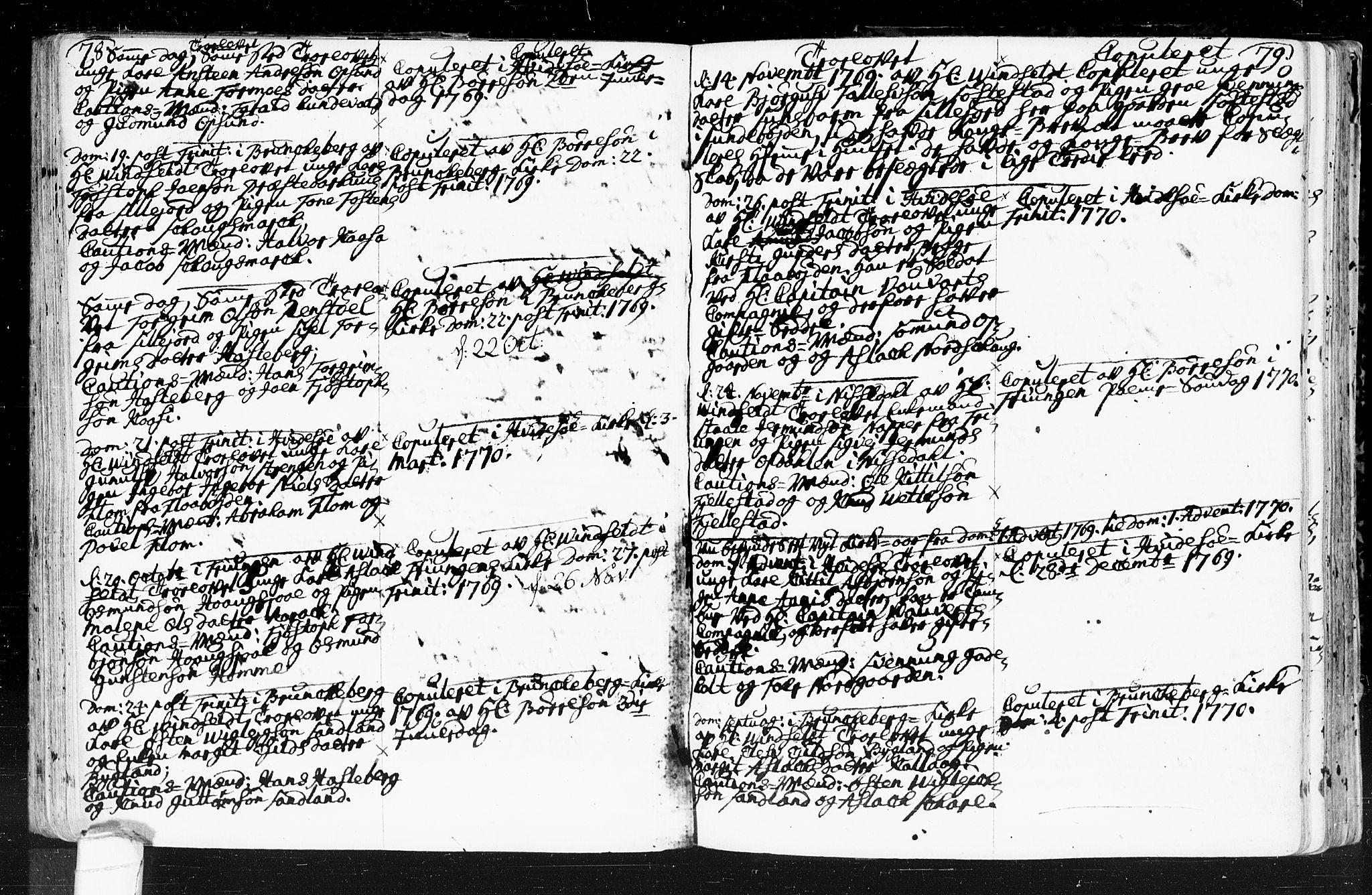 SAKO, Kviteseid kirkebøker, F/Fa/L0001: Ministerialbok nr. I 1, 1754-1773, s. 78-79