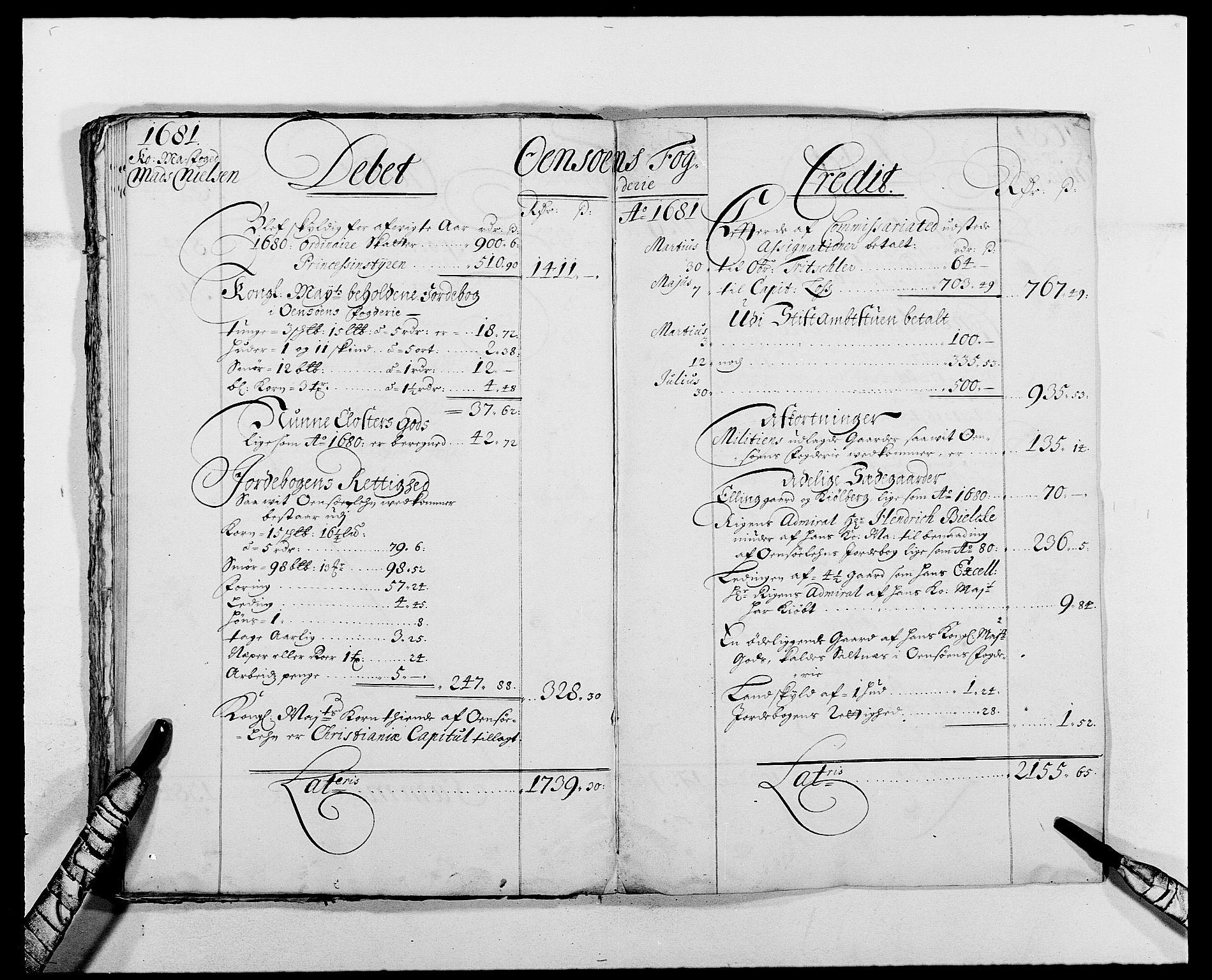 RA, Rentekammeret inntil 1814, Reviderte regnskaper, Fogderegnskap, R03/L0113: Fogderegnskap Onsøy, Tune, Veme og Åbygge fogderi, 1681-1683, s. 33