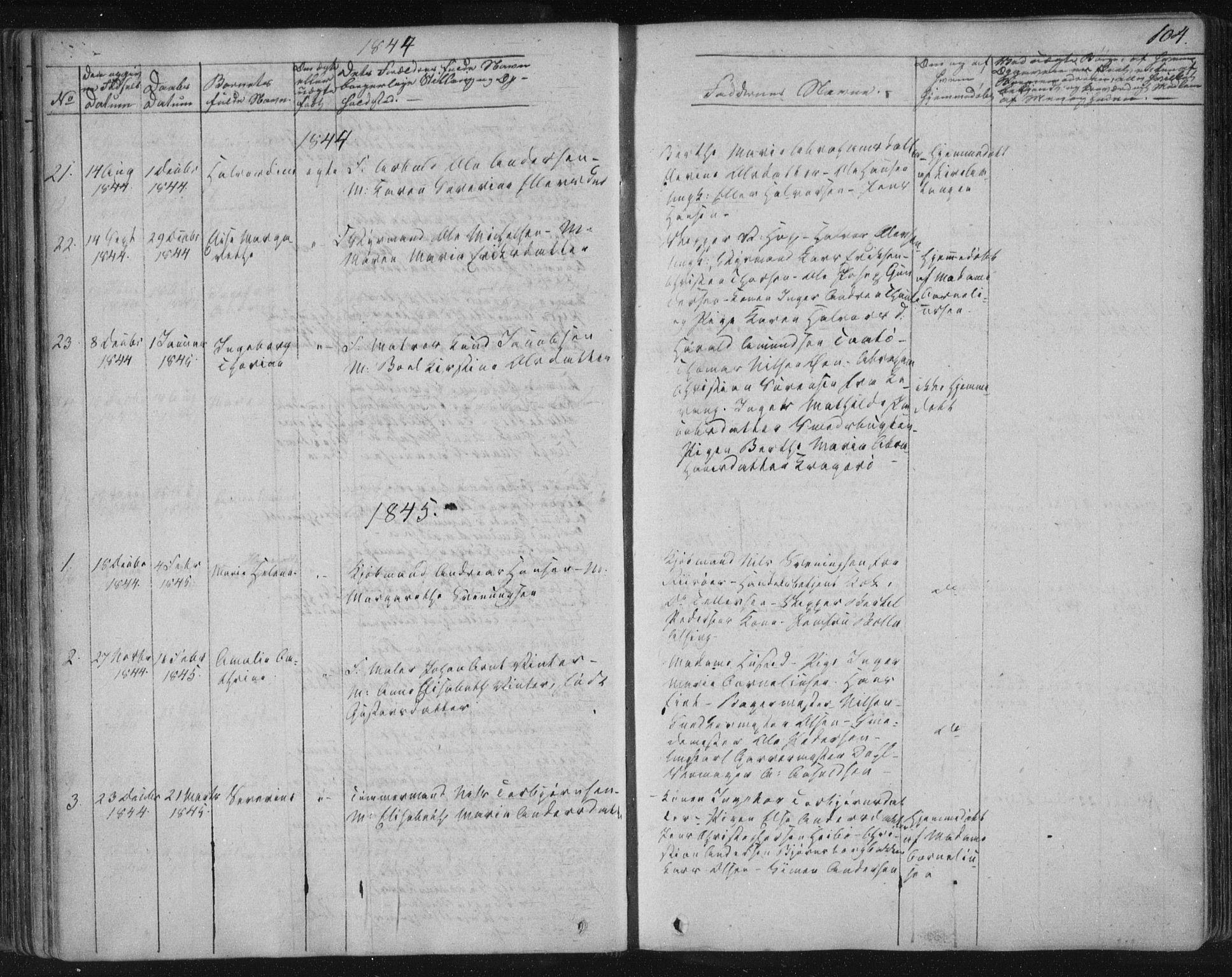 SAKO, Kragerø kirkebøker, F/Fa/L0005: Ministerialbok nr. 5, 1832-1847, s. 104