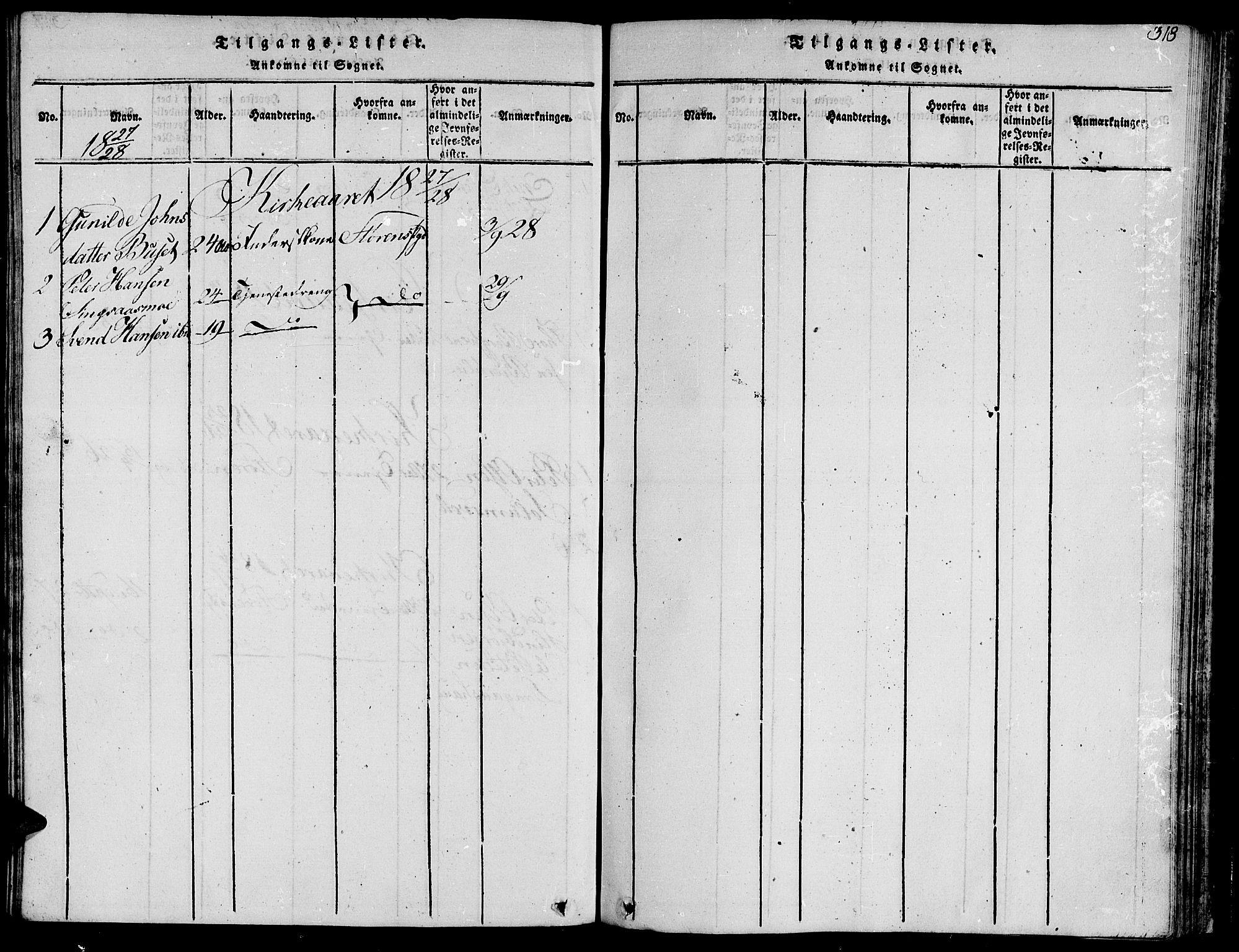 SAT, Ministerialprotokoller, klokkerbøker og fødselsregistre - Sør-Trøndelag, 685/L0955: Ministerialbok nr. 685A03 /2, 1817-1829, s. 318