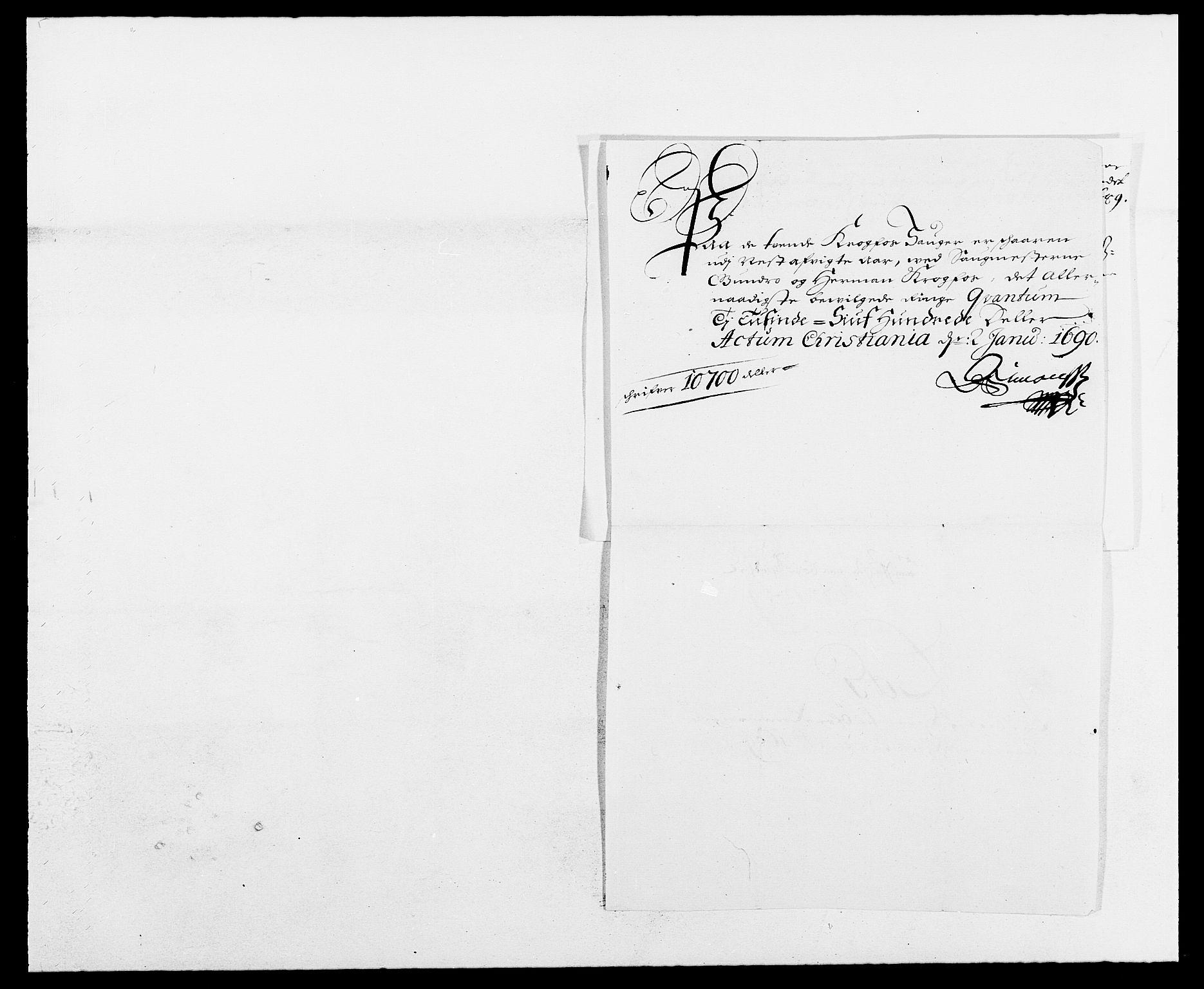 RA, Rentekammeret inntil 1814, Reviderte regnskaper, Fogderegnskap, R12/L0701: Fogderegnskap Øvre Romerike, 1689, s. 187