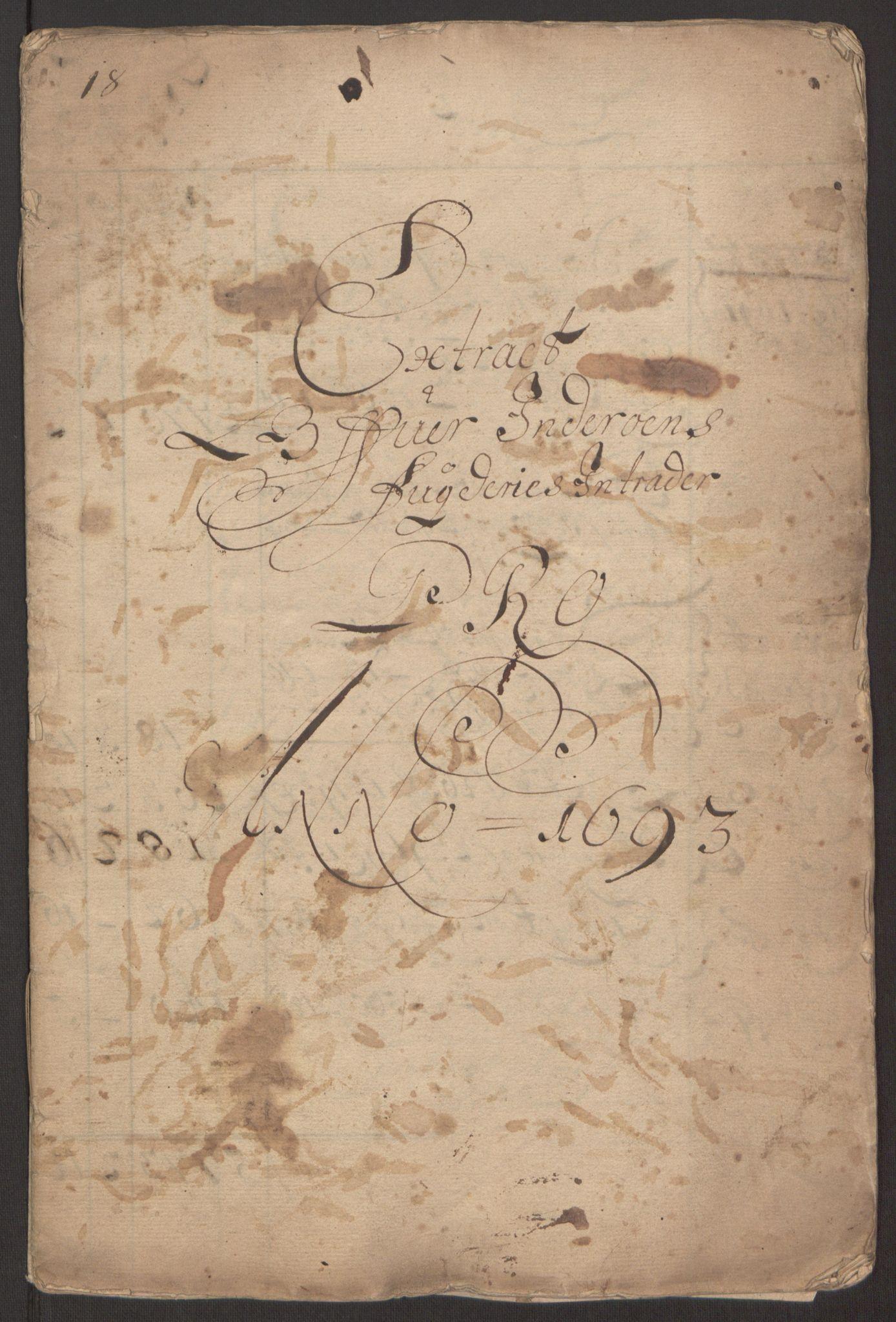 RA, Rentekammeret inntil 1814, Reviderte regnskaper, Fogderegnskap, R63/L4308: Fogderegnskap Inderøy, 1692-1694, s. 416