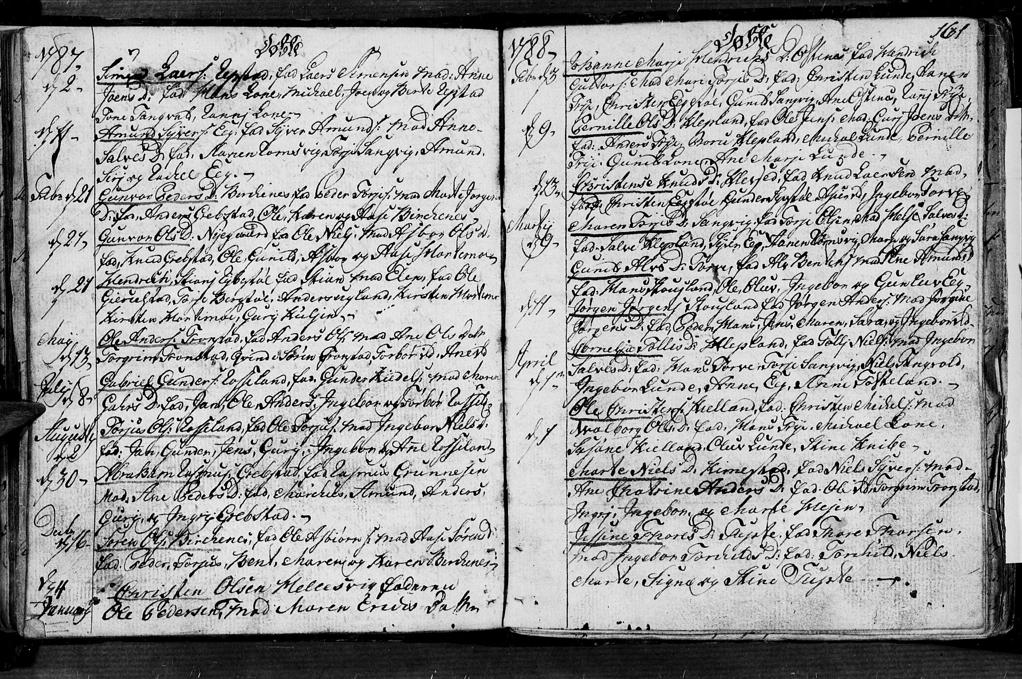 SAK, Søgne sokneprestkontor, F/Fa/Fab/L0004: Ministerialbok nr. A 4, 1770-1822, s. 160-161