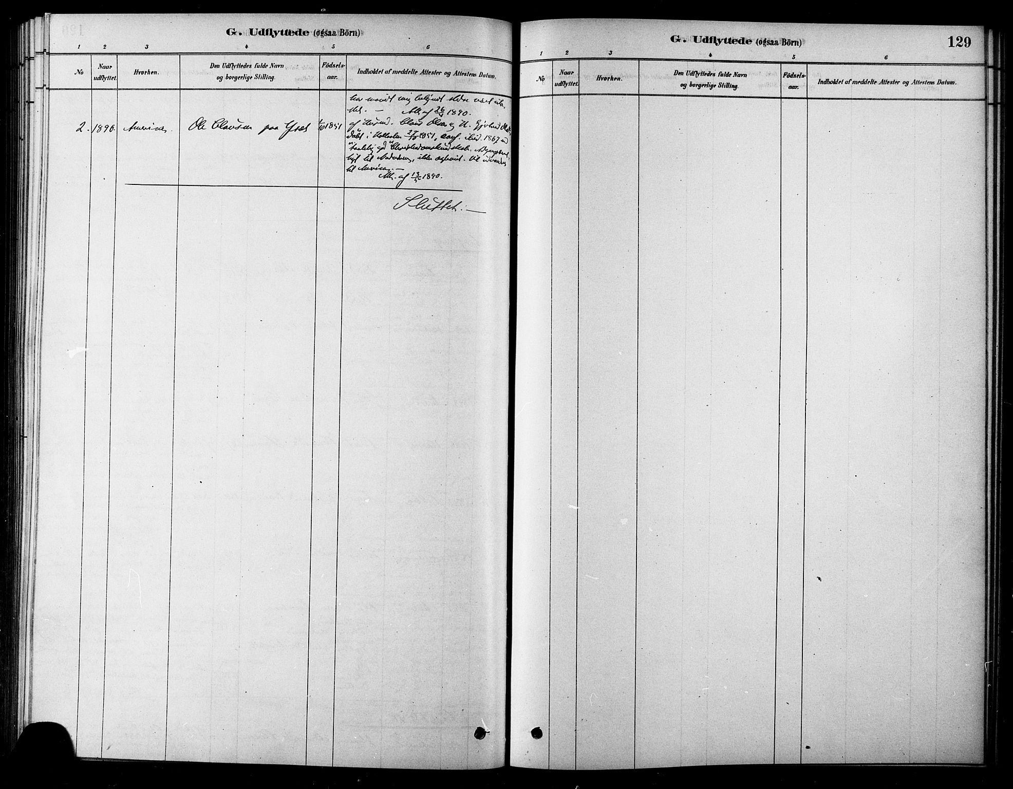 SAT, Ministerialprotokoller, klokkerbøker og fødselsregistre - Sør-Trøndelag, 685/L0972: Ministerialbok nr. 685A09, 1879-1890, s. 129