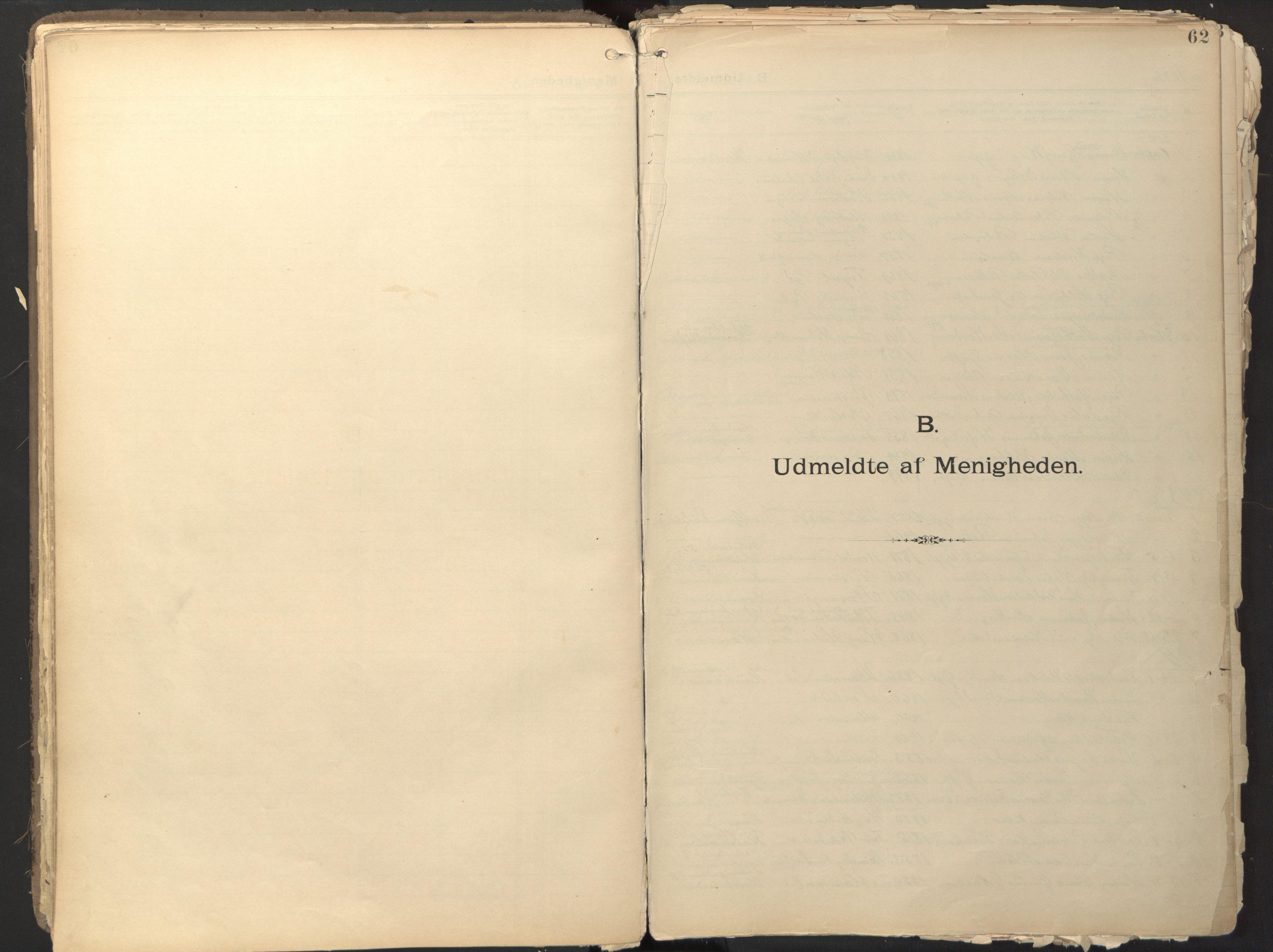SAO, Den evangelisk-lutherske frikirke østre menighet, Oslo, D/L0002: Dissenterprotokoll nr. 2, 1892-1936, s. 62