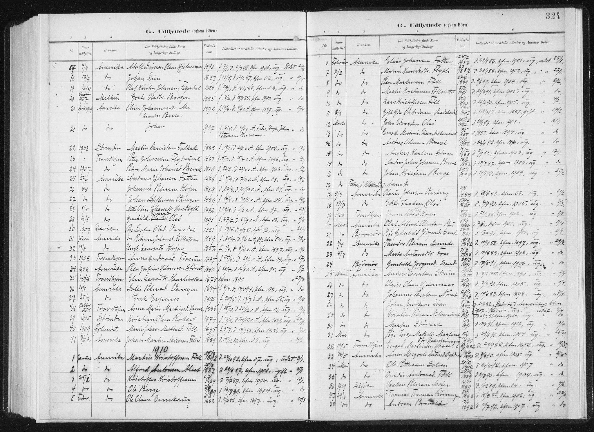 SAT, Ministerialprotokoller, klokkerbøker og fødselsregistre - Sør-Trøndelag, 647/L0635: Ministerialbok nr. 647A02, 1896-1911, s. 324