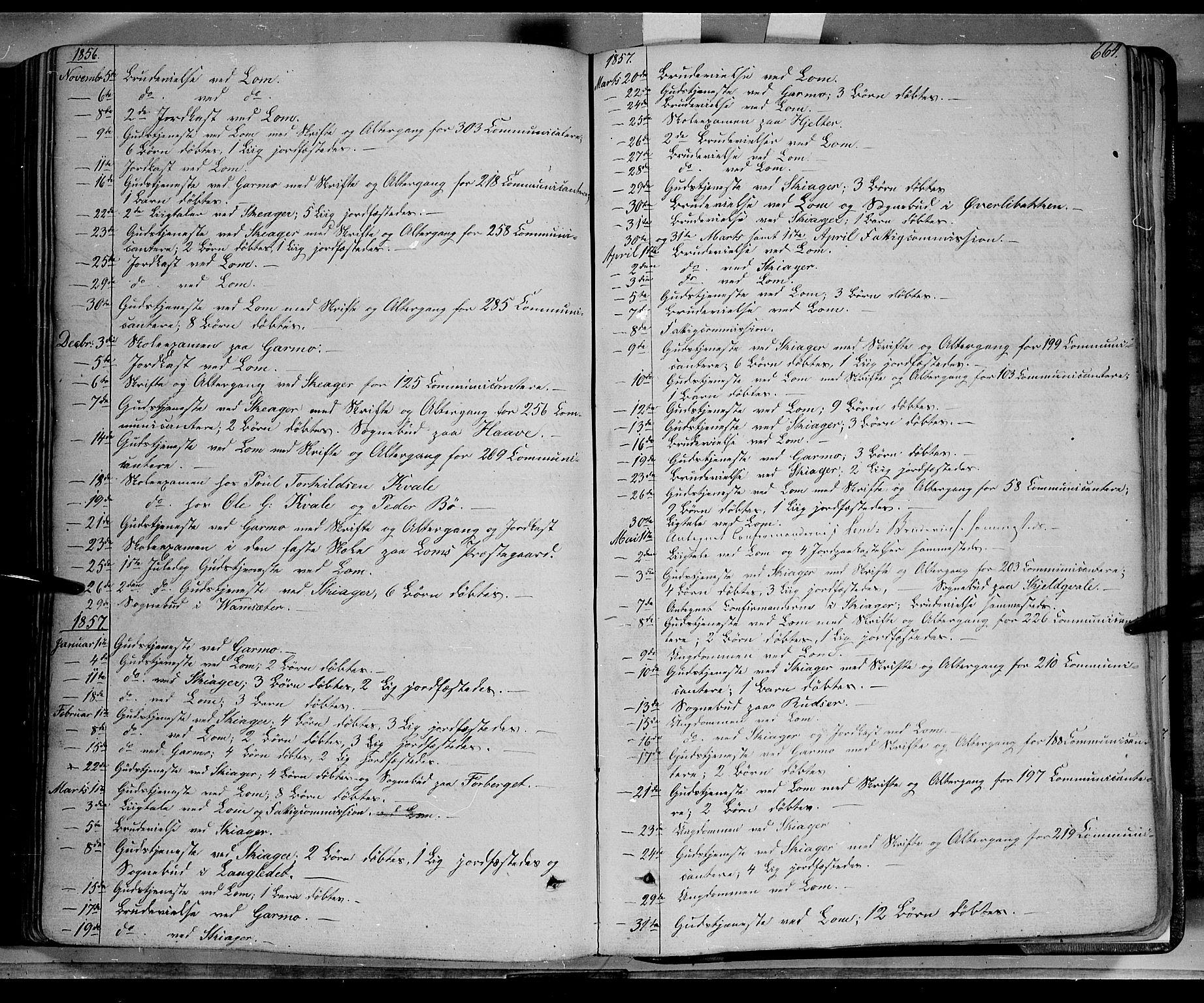 SAH, Lom prestekontor, K/L0006: Ministerialbok nr. 6B, 1837-1863, s. 664