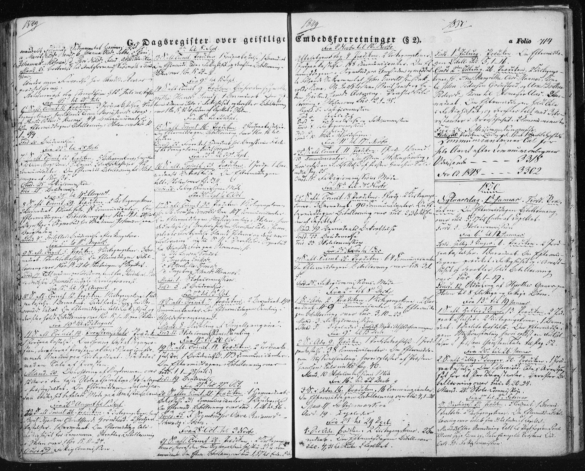 SAT, Ministerialprotokoller, klokkerbøker og fødselsregistre - Sør-Trøndelag, 681/L0931: Ministerialbok nr. 681A09, 1845-1859, s. 714