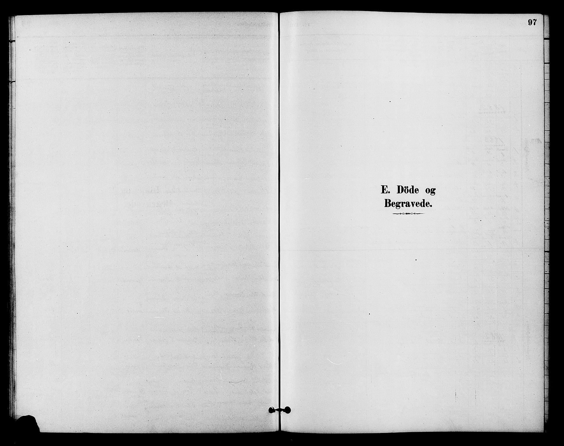 SAH, Vestre Slidre prestekontor, Klokkerbok nr. 4, 1881-1912, s. 97