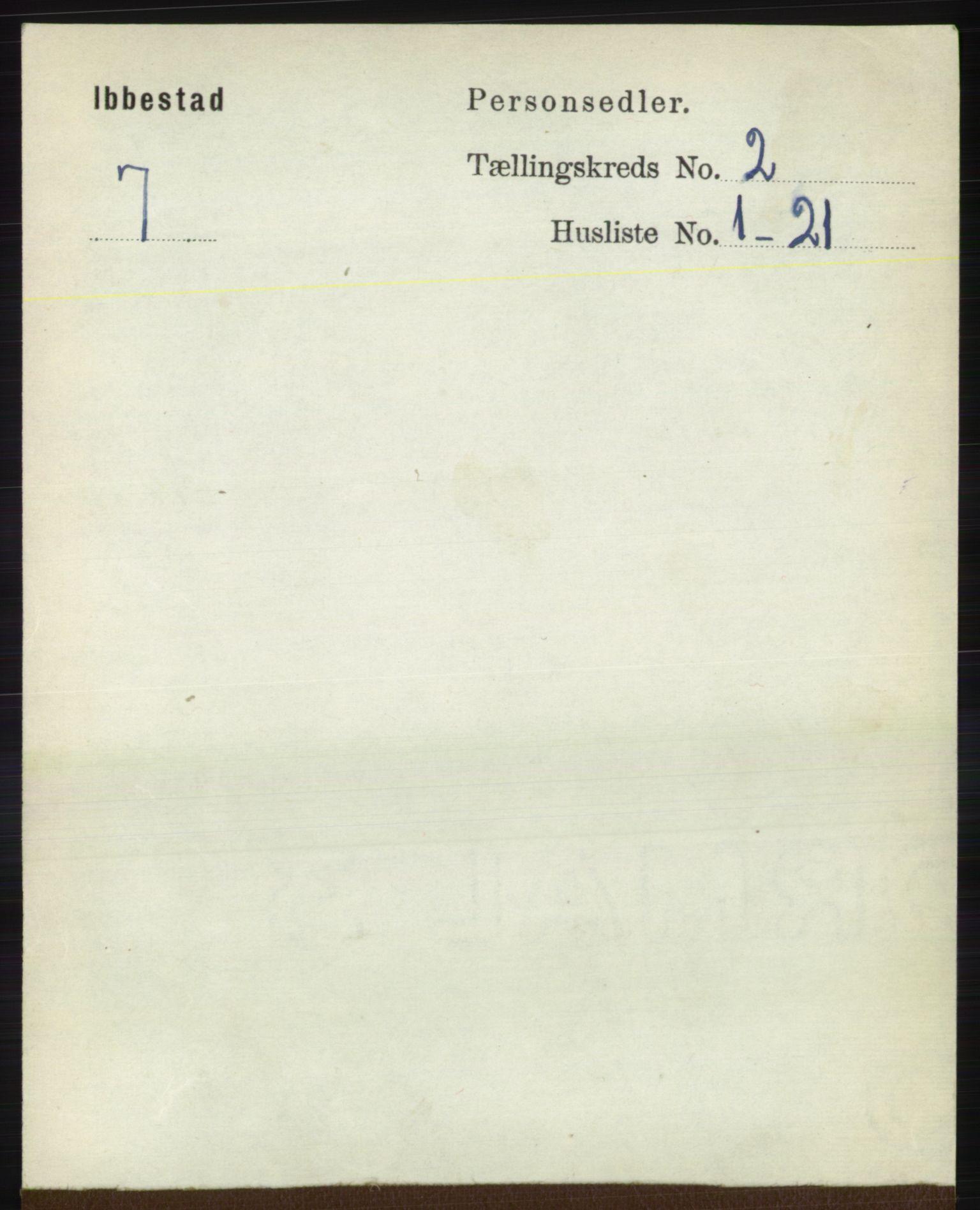 RA, Folketelling 1891 for 1917 Ibestad herred, 1891, s. 817