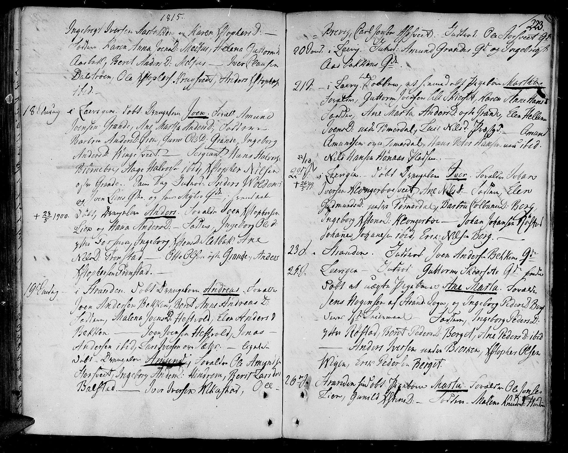 SAT, Ministerialprotokoller, klokkerbøker og fødselsregistre - Nord-Trøndelag, 701/L0004: Ministerialbok nr. 701A04, 1783-1816, s. 223
