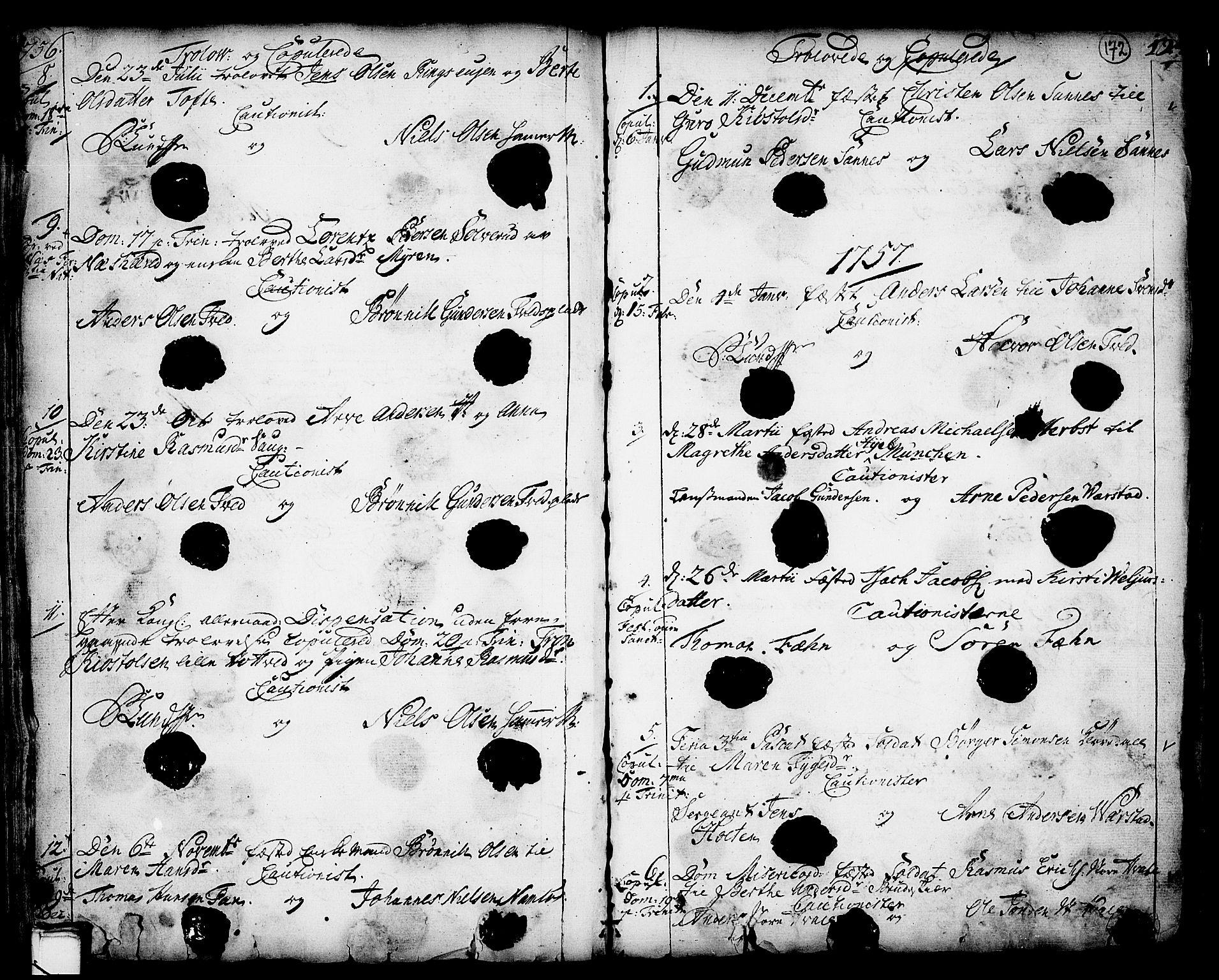 SAKO, Holla kirkebøker, F/Fa/L0001: Ministerialbok nr. 1, 1717-1779, s. 172