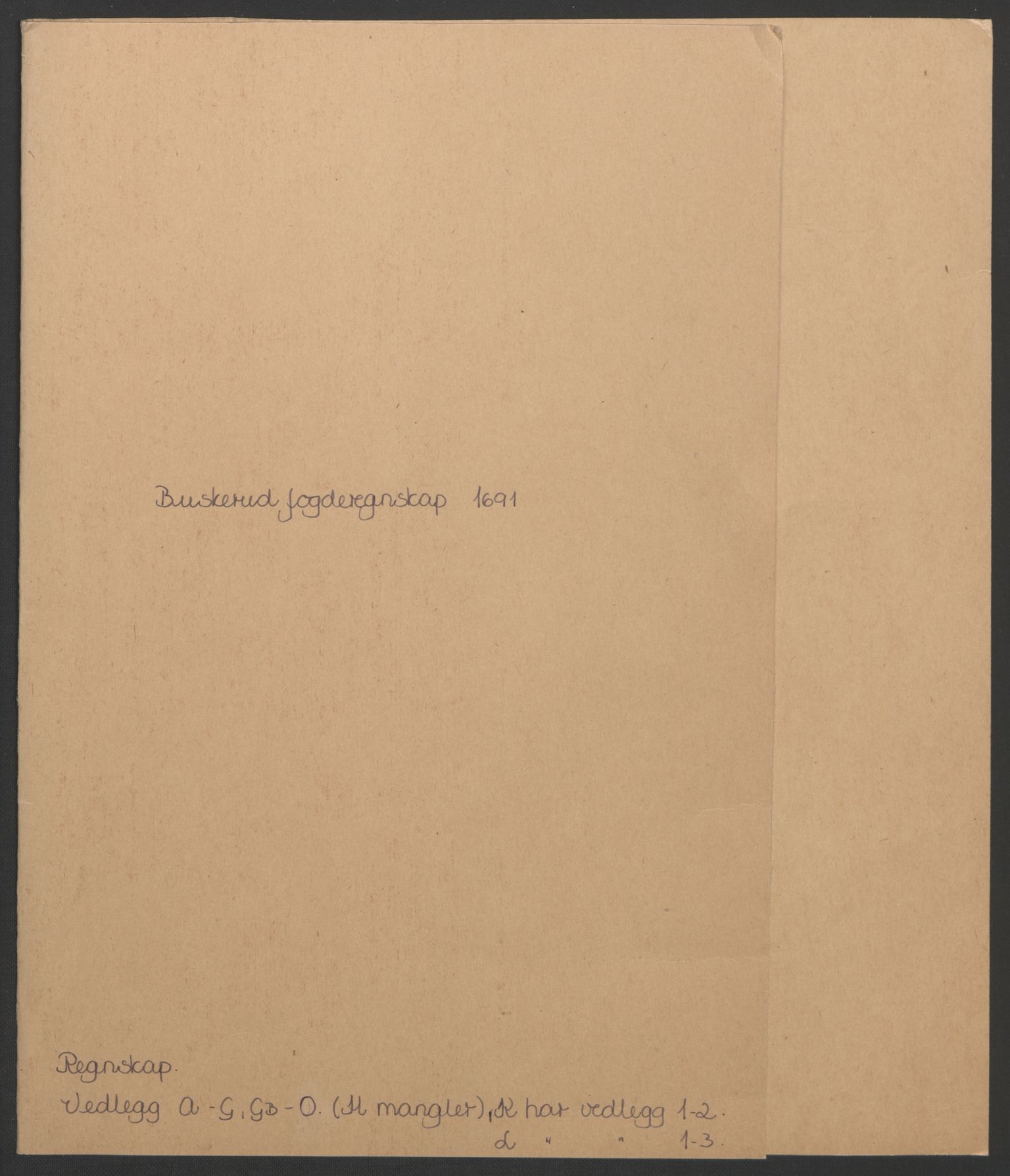 RA, Rentekammeret inntil 1814, Reviderte regnskaper, Fogderegnskap, R25/L1681: Fogderegnskap Buskerud, 1691-1692, s. 2