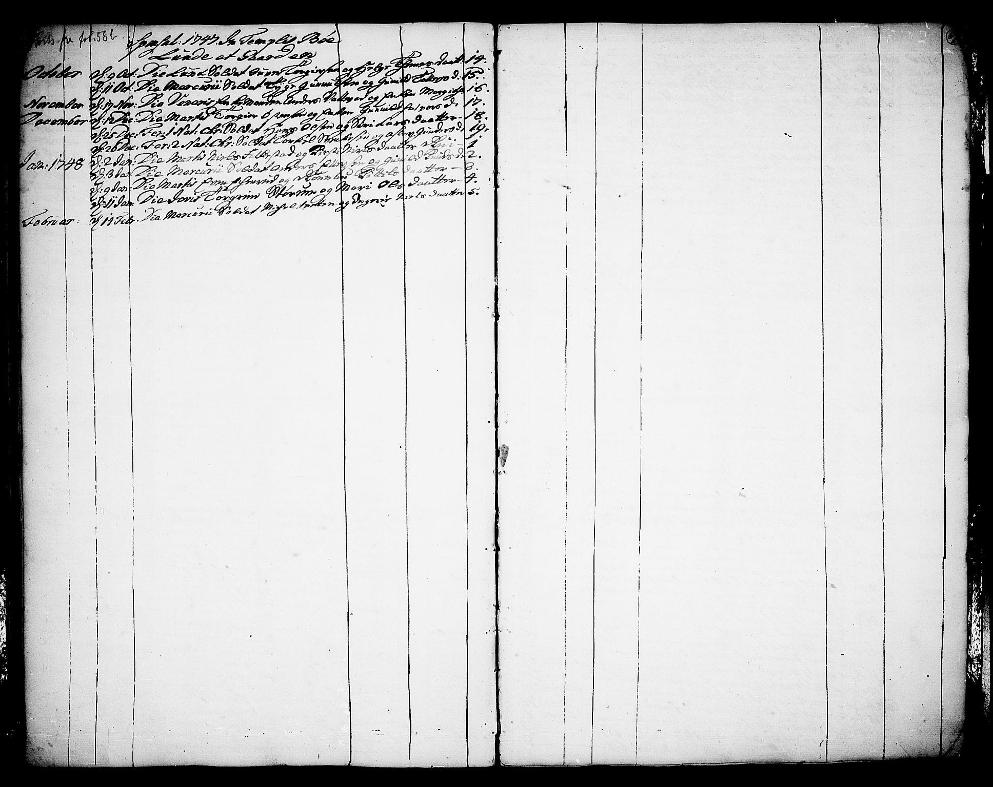SAKO, Bø kirkebøker, F/Fa/L0003: Ministerialbok nr. 3, 1733-1748, s. 61