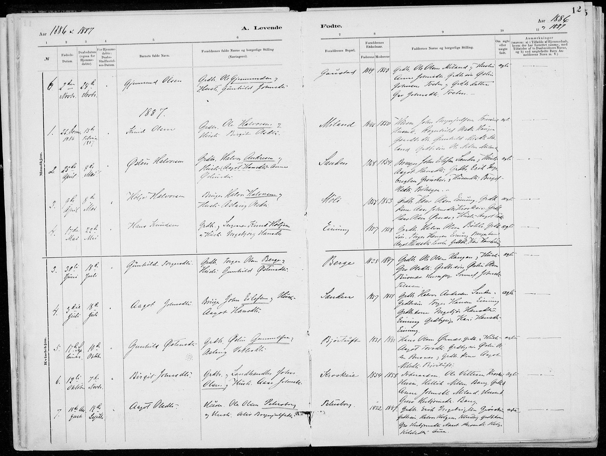 SAKO, Tinn kirkebøker, F/Fb/L0002: Ministerialbok nr. II 2, 1878-1917, s. 12