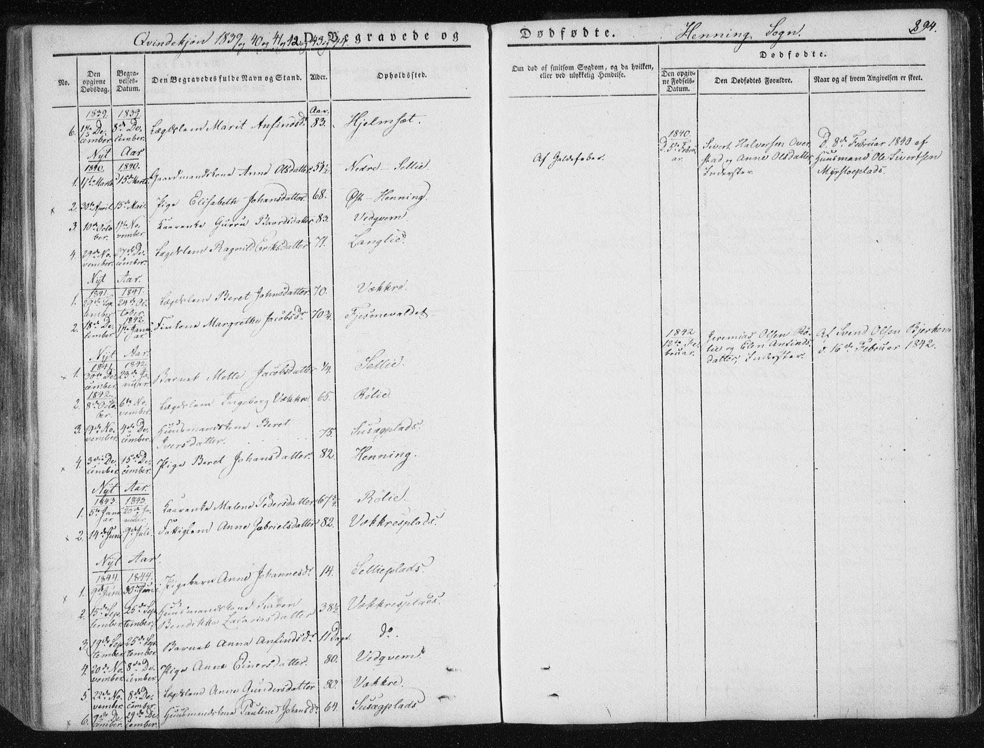SAT, Ministerialprotokoller, klokkerbøker og fødselsregistre - Nord-Trøndelag, 735/L0339: Ministerialbok nr. 735A06 /3, 1836-1848, s. 294