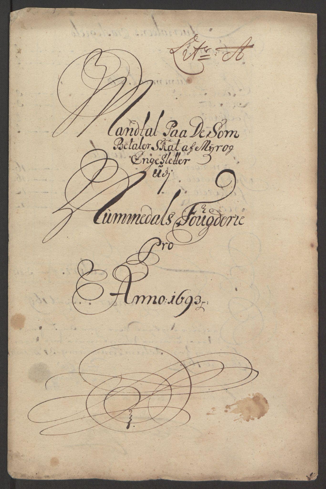 RA, Rentekammeret inntil 1814, Reviderte regnskaper, Fogderegnskap, R64/L4424: Fogderegnskap Namdal, 1692-1695, s. 238