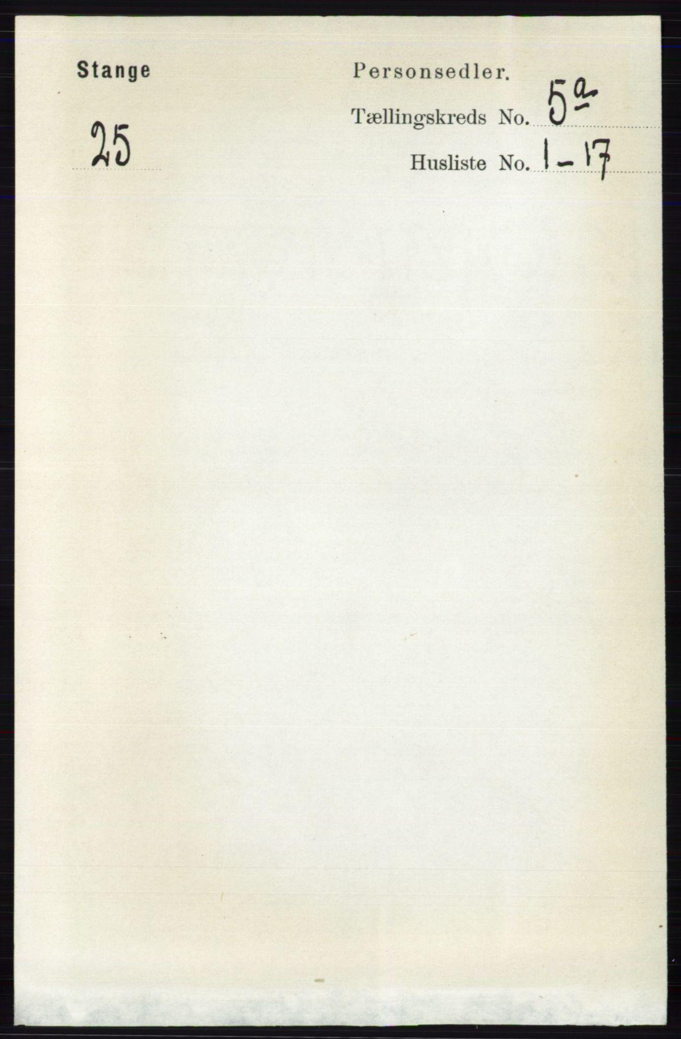 RA, Folketelling 1891 for 0417 Stange herred, 1891, s. 3761