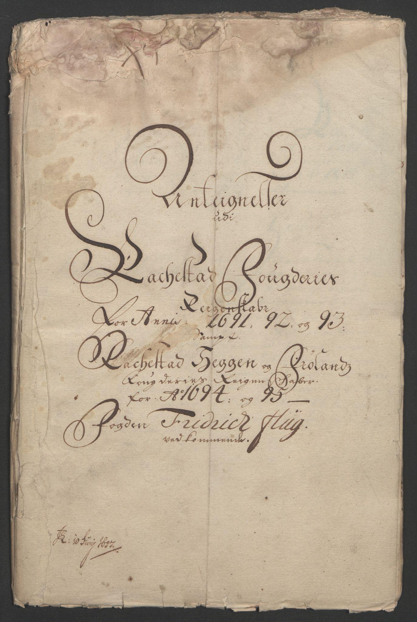RA, Rentekammeret inntil 1814, Reviderte regnskaper, Fogderegnskap, R07/L0285: Fogderegnskap Rakkestad, Heggen og Frøland, 1695, s. 348