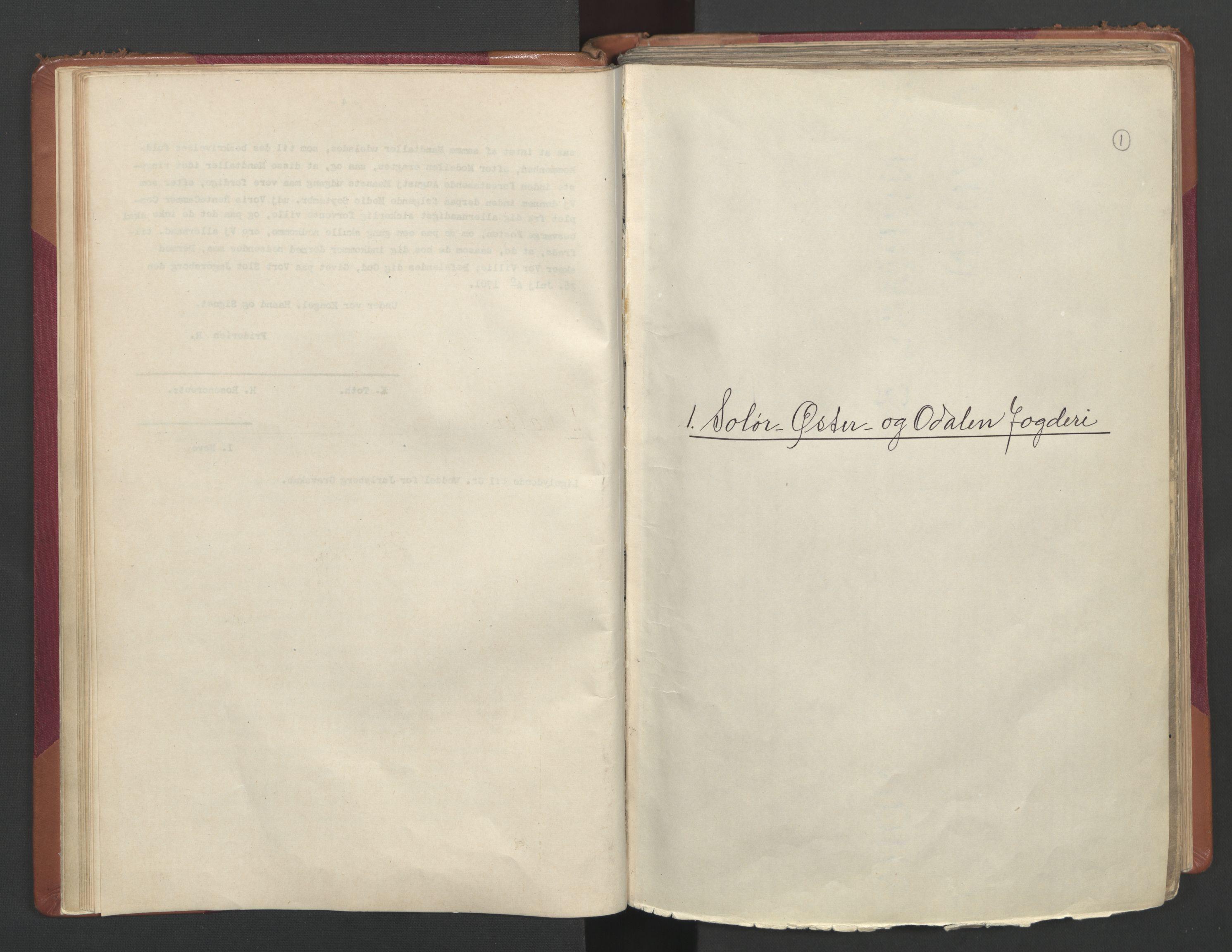 RA, Manntallet 1701, nr. 2: Solør, Odal og Østerdal fogderi og Larvik grevskap, 1701, s. 1