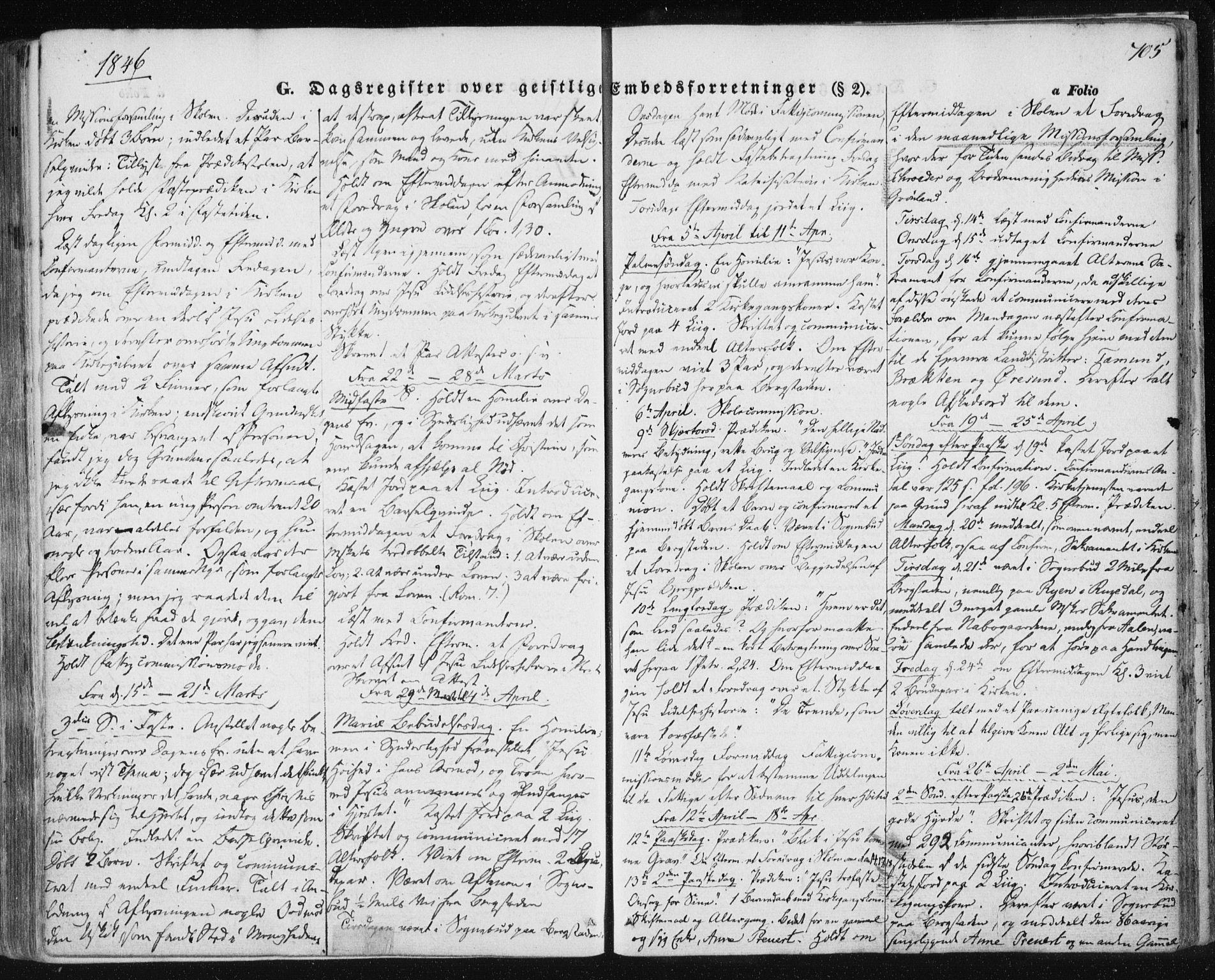 SAT, Ministerialprotokoller, klokkerbøker og fødselsregistre - Sør-Trøndelag, 681/L0931: Ministerialbok nr. 681A09, 1845-1859, s. 705