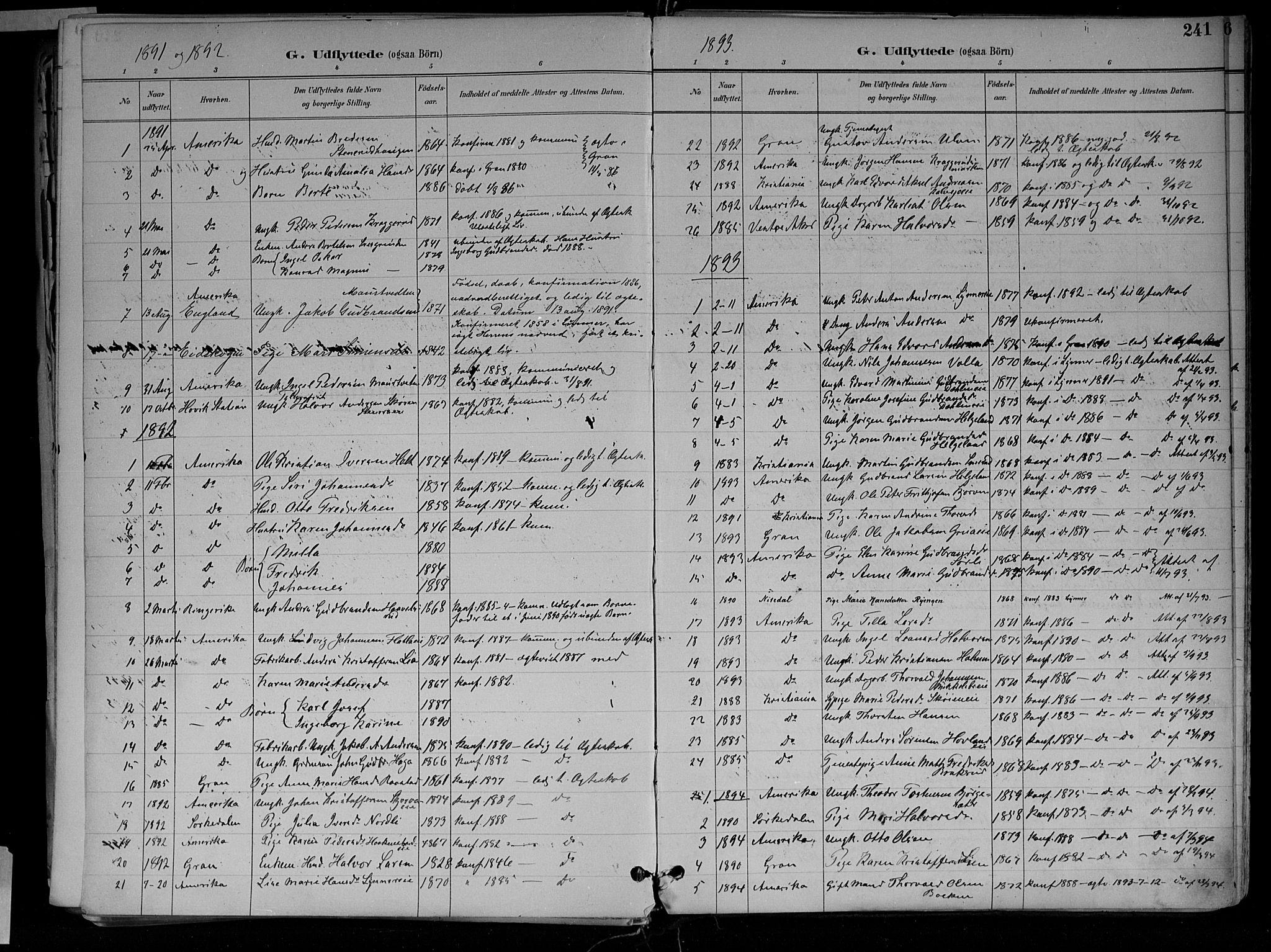 SAH, Jevnaker prestekontor, Ministerialbok nr. 10, 1891-1906, s. 241